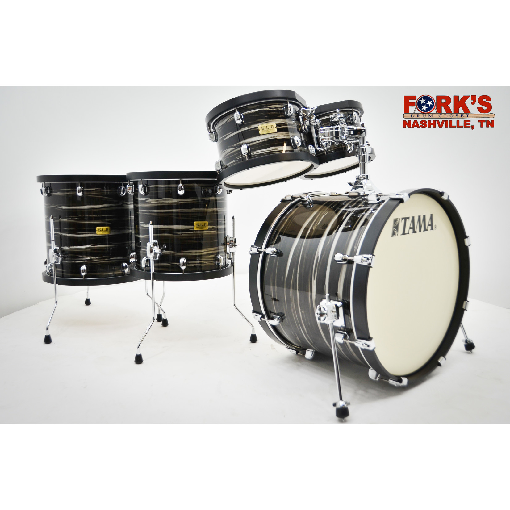 """Tama Tama SLP Studio Maple 5pc Drum Kit """"Lacquered Charcoal Oyster"""""""