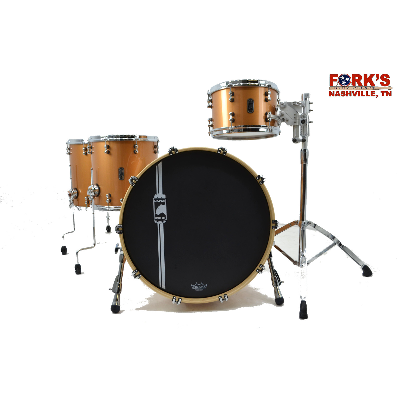 "Mapex Mapex Black Panther Design Lab, Cherry Bomb 4pc Drum kit ""Transparent Copper"""