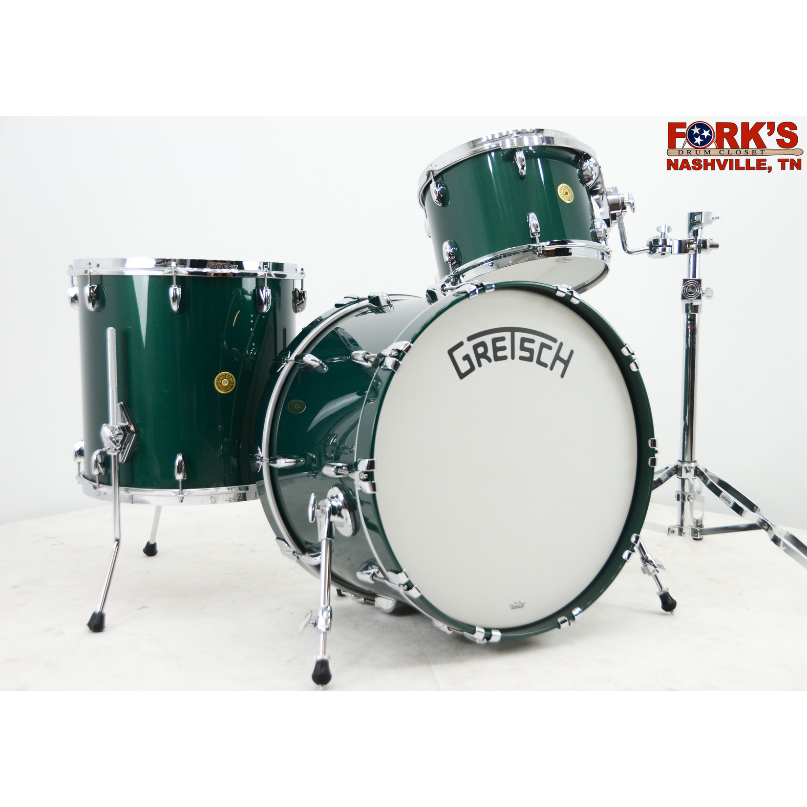 "Gretsch Gretsch Broadkaster 3pc Drum Set ""Cadillac Green Gloss"""