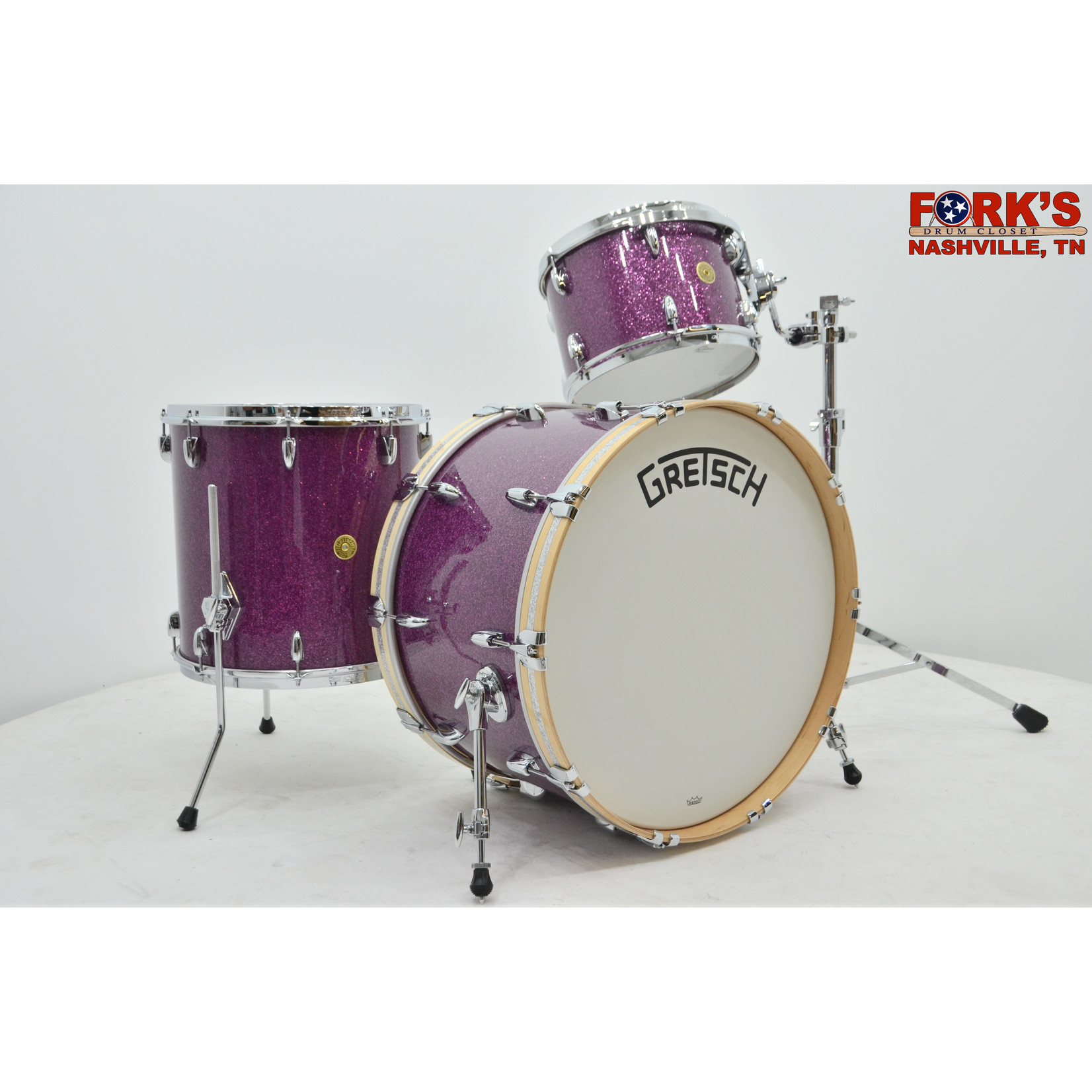 "Gretsch Gretsch Broadkaster 3pc Drum Set ""Purple Glass"""