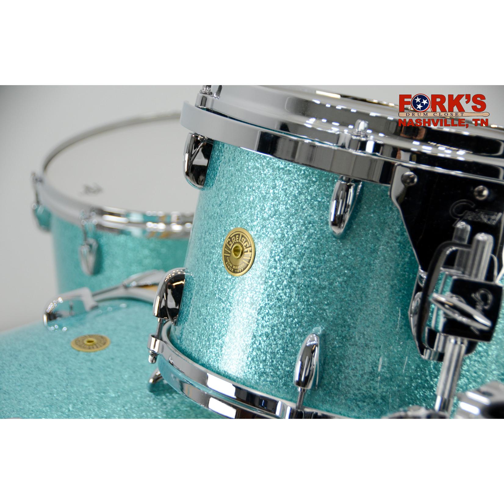 "Gretsch Gretsch USA 3pc Drum Set ""Turquoise Glass"""
