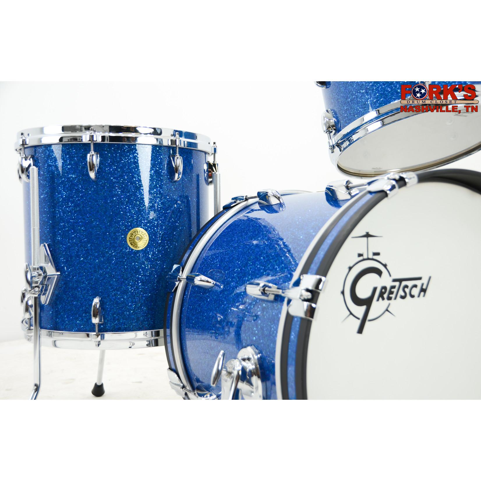 """Gretsch Gretsch USA 3pc Drum Set """"Blue Glass"""""""