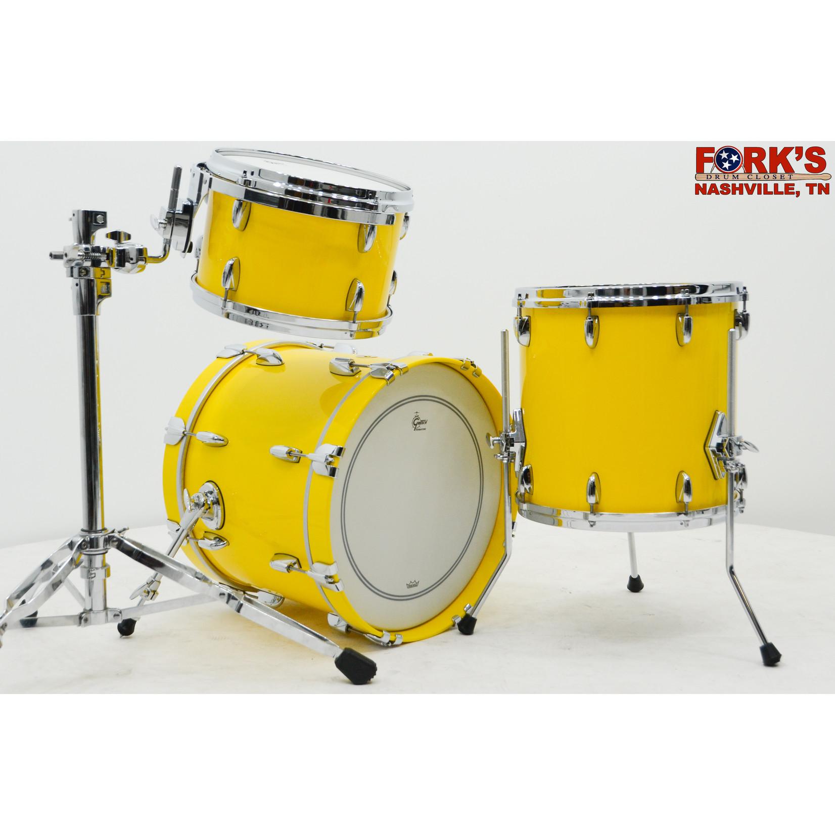 """Gretsch Gretsch USA 3pc Drum Set """"Solid Yellow Gloss"""""""