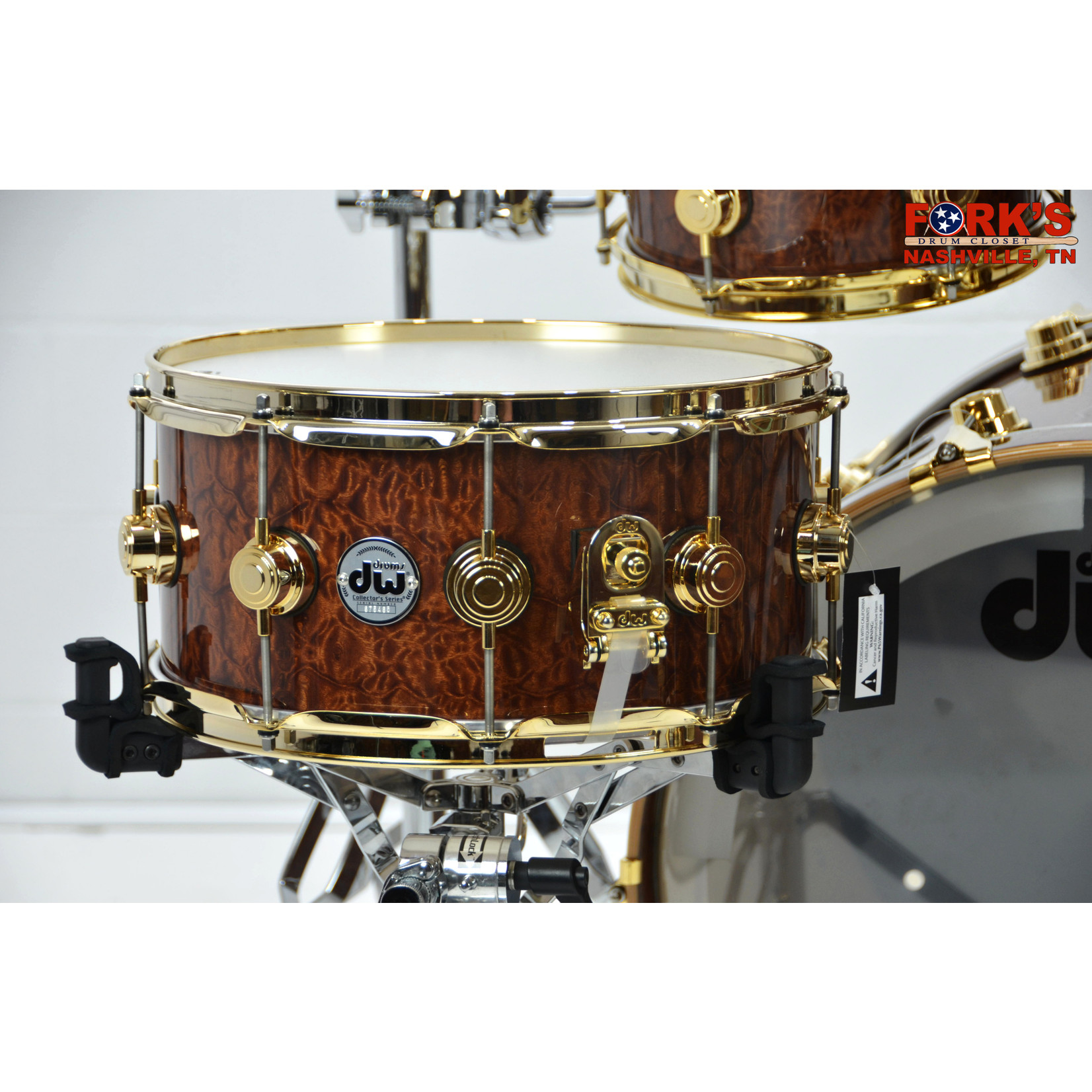 """DW Pre-loved DW Collectors Exotic 5pc Drum Kit """"Natural Gloss over Bubinga Pomelle"""""""