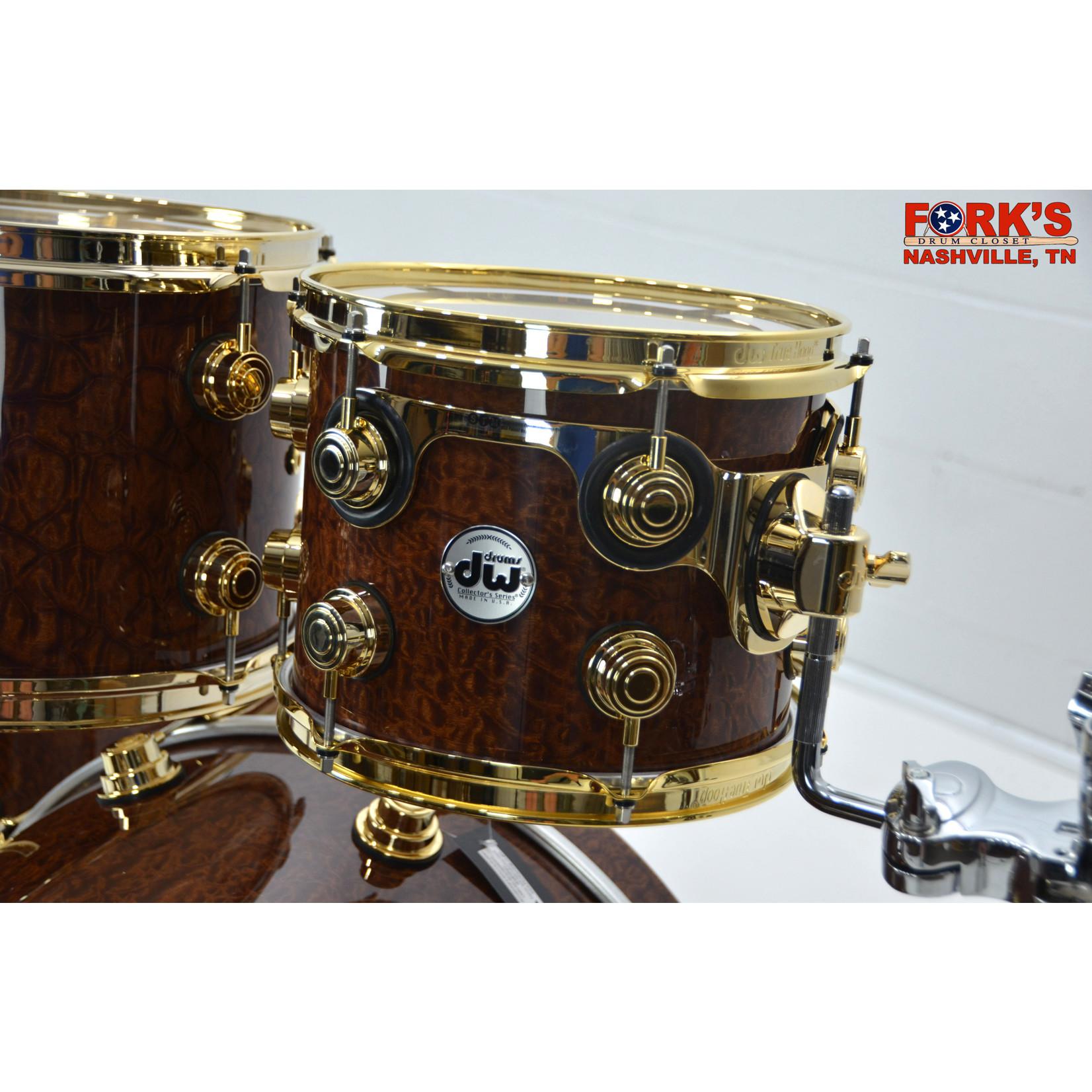 "DW DW Collectors Exotic 5pc Drum Kit ""Natural Gloss over Bubinga Pomelle"""