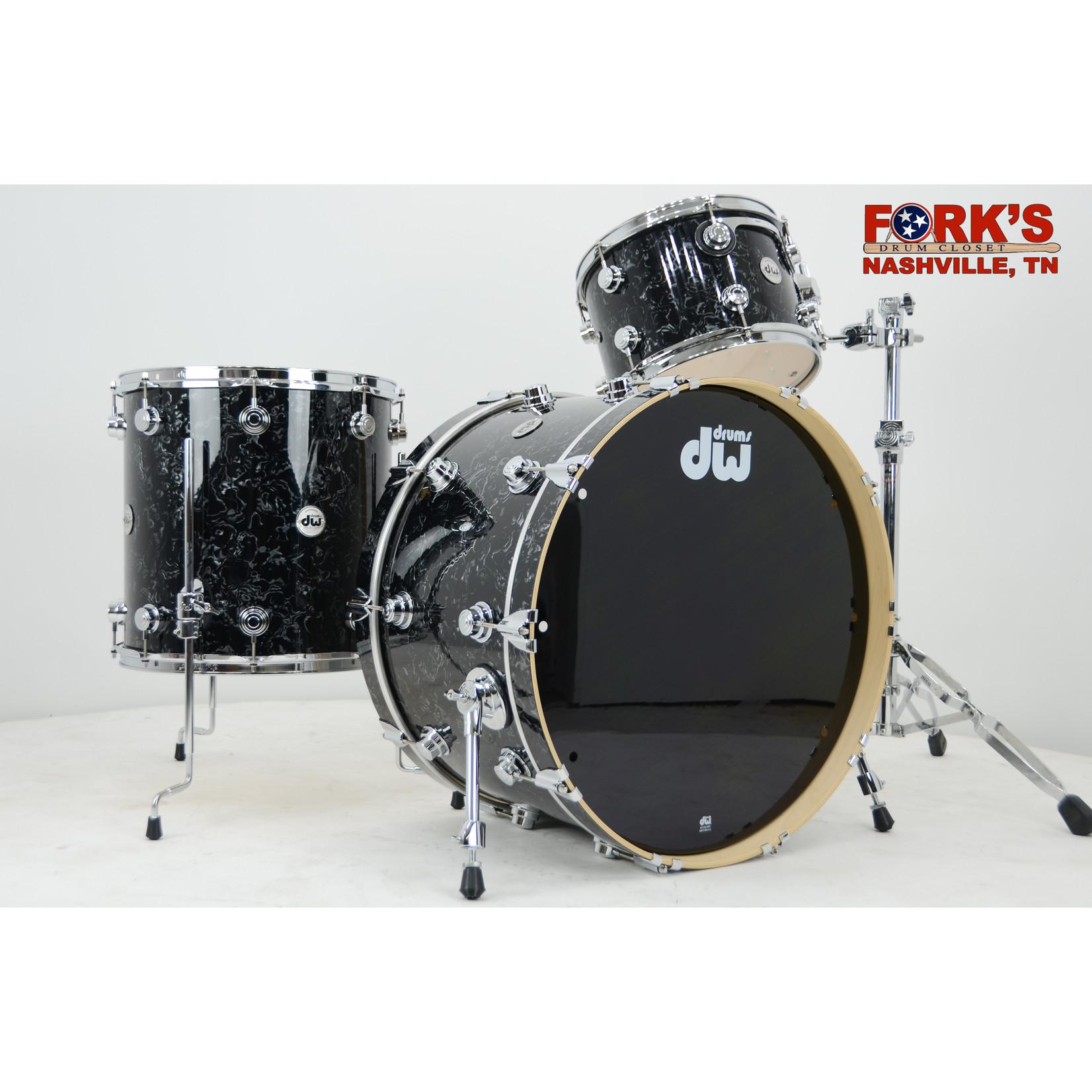 """DW DW Collectors Maple 3pc Drum Set """"Black Velvet"""""""