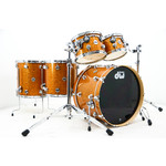 "DW DW Collectors Series 5pc Pure Maple Drum set ""Burnt Orange Glass"""