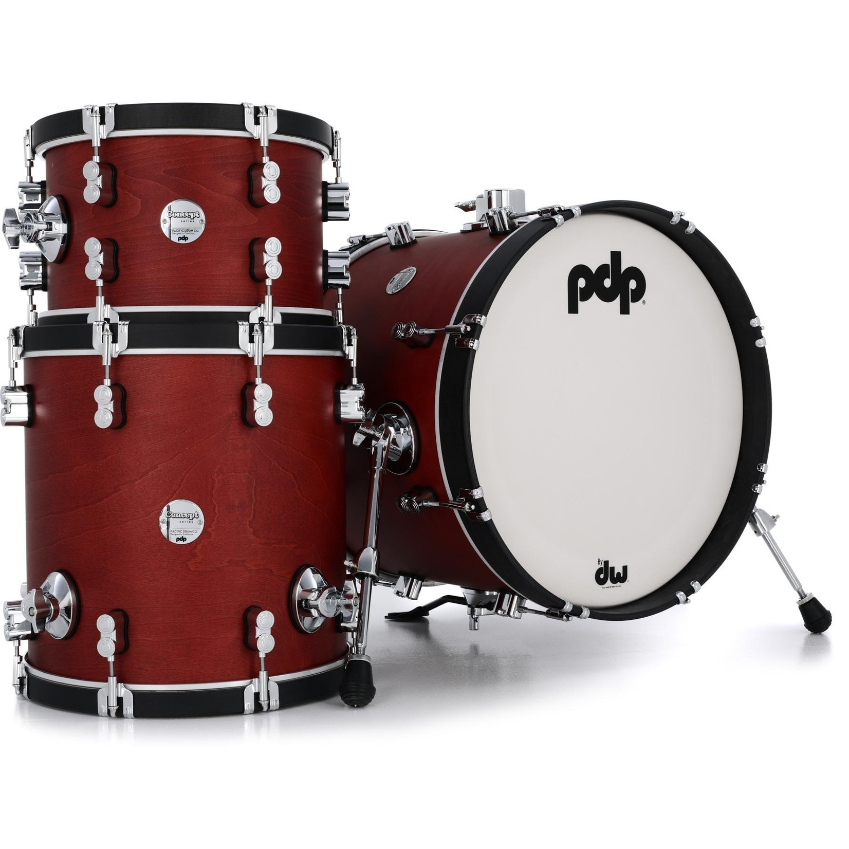 """PDP PDP Concept Maple 3pc """"Oxblood Stain"""""""