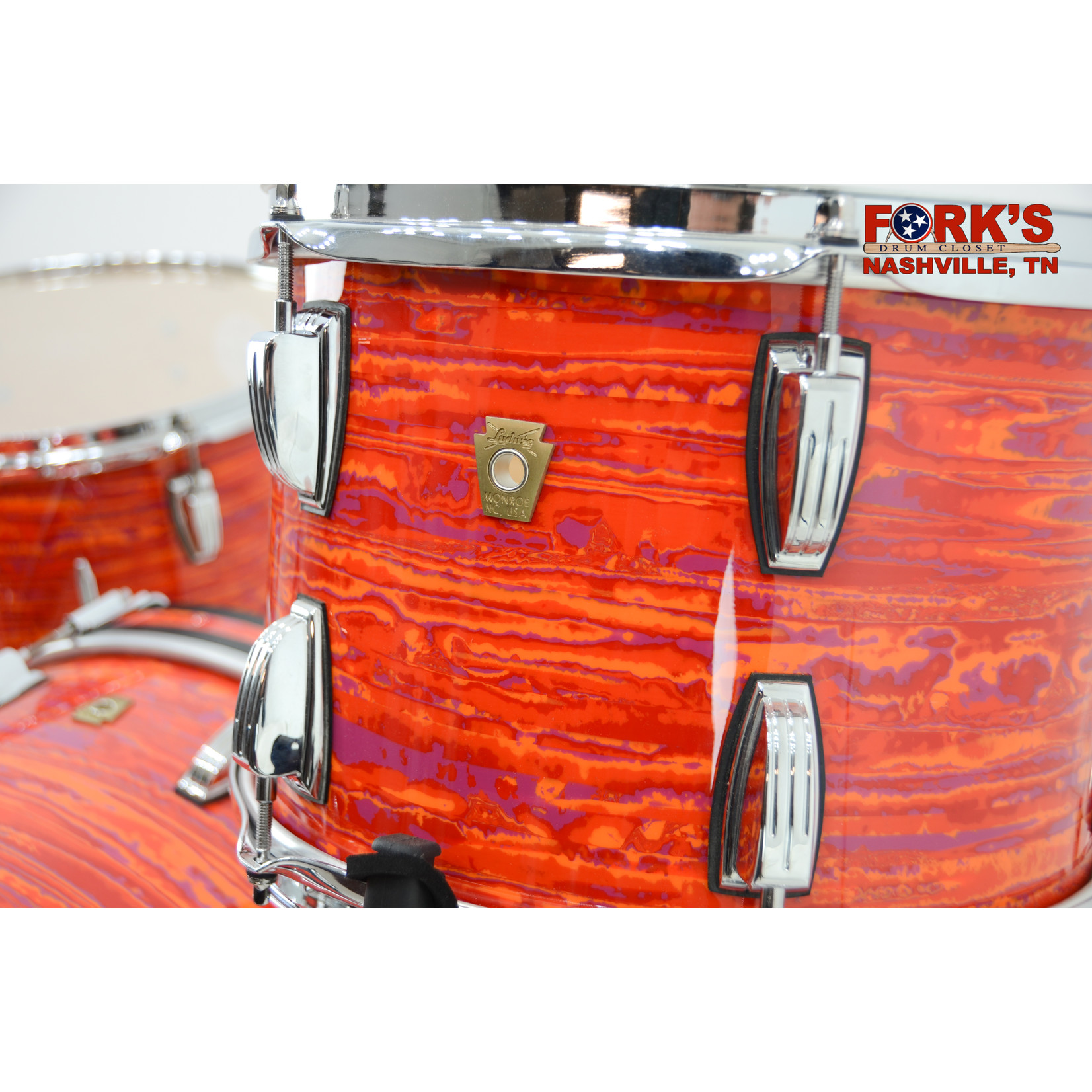 "Ludwig Ludwig Classic Maple 3pc Drum Kit ""Mod Orange"""