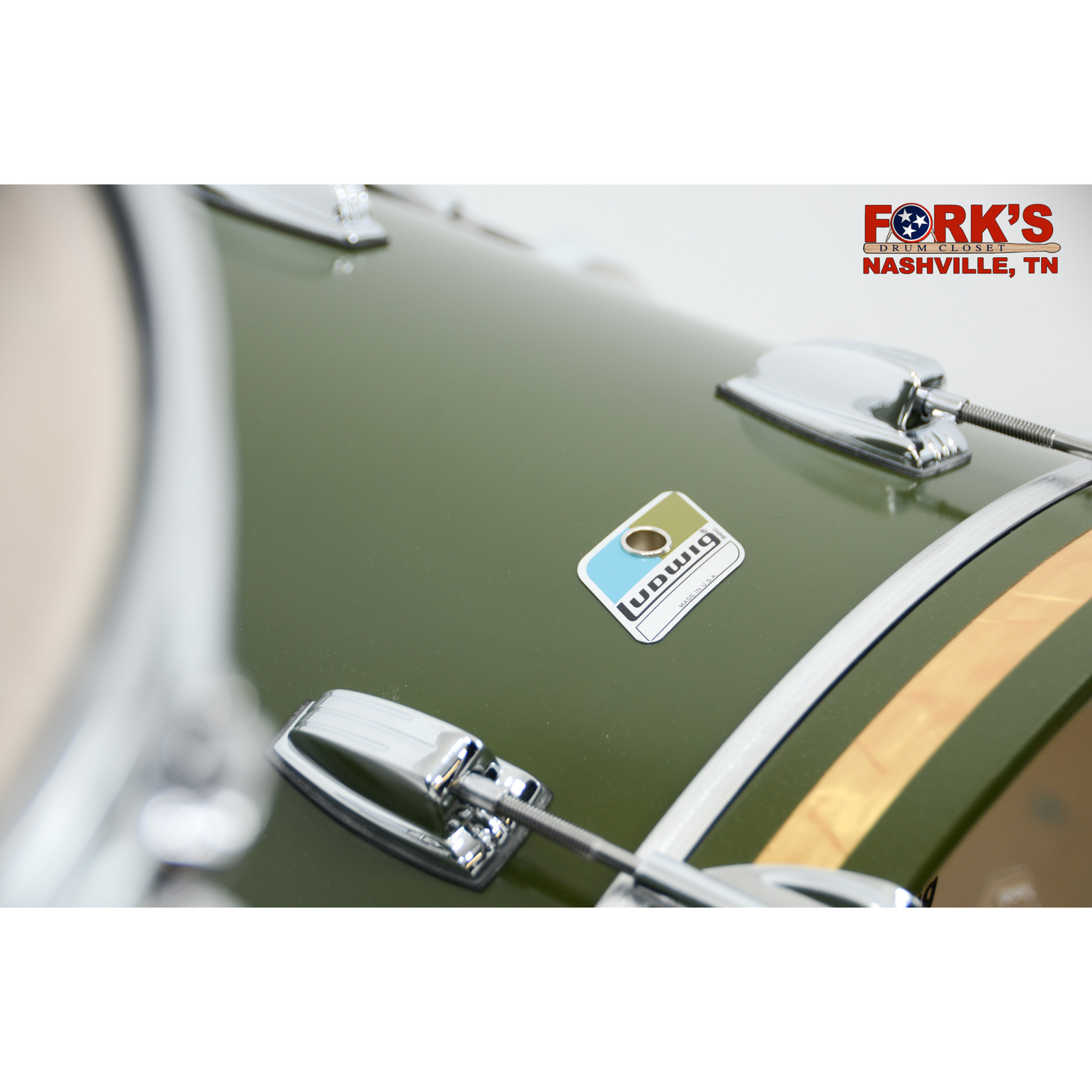 """Ludwig Ludwig Classic Maple 3pc Drum Kit """"Heritage Green"""""""