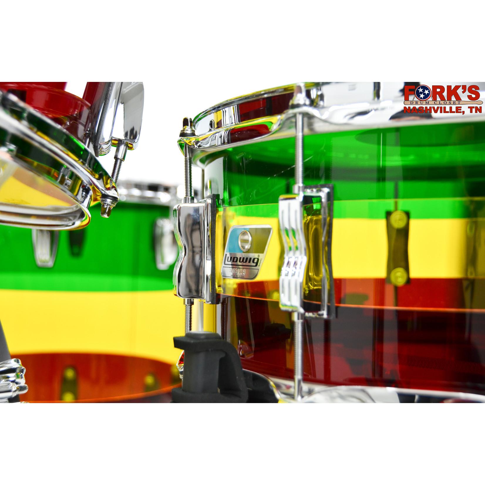 """Ludwig Ludwig Vistalite 4pc Drum Kit """"Island Sunrise"""""""