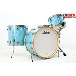 "Ludwig Ludwig Classic Maple 4pc Drum Kit ""Ice Blue Oyster"" w/ Nickel Hardware"