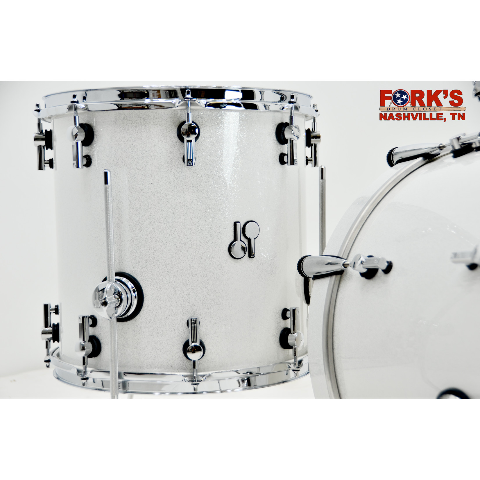 "Sonor Sonor SQ2 3pc Drum Kit ""White Sparkle"