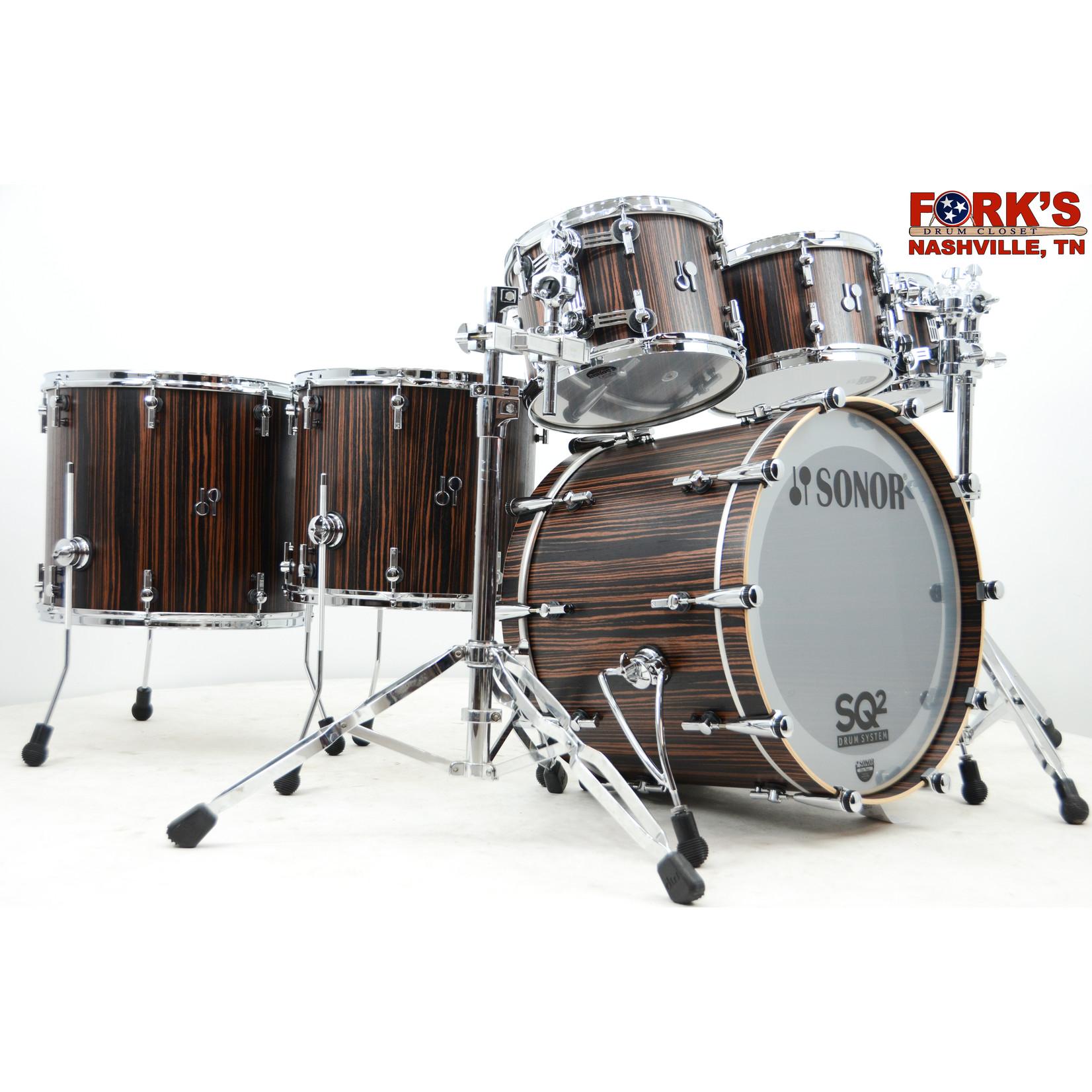 "Sonor Sonor SQ2 6pc Drum Kit ""Ebony Veneer"""