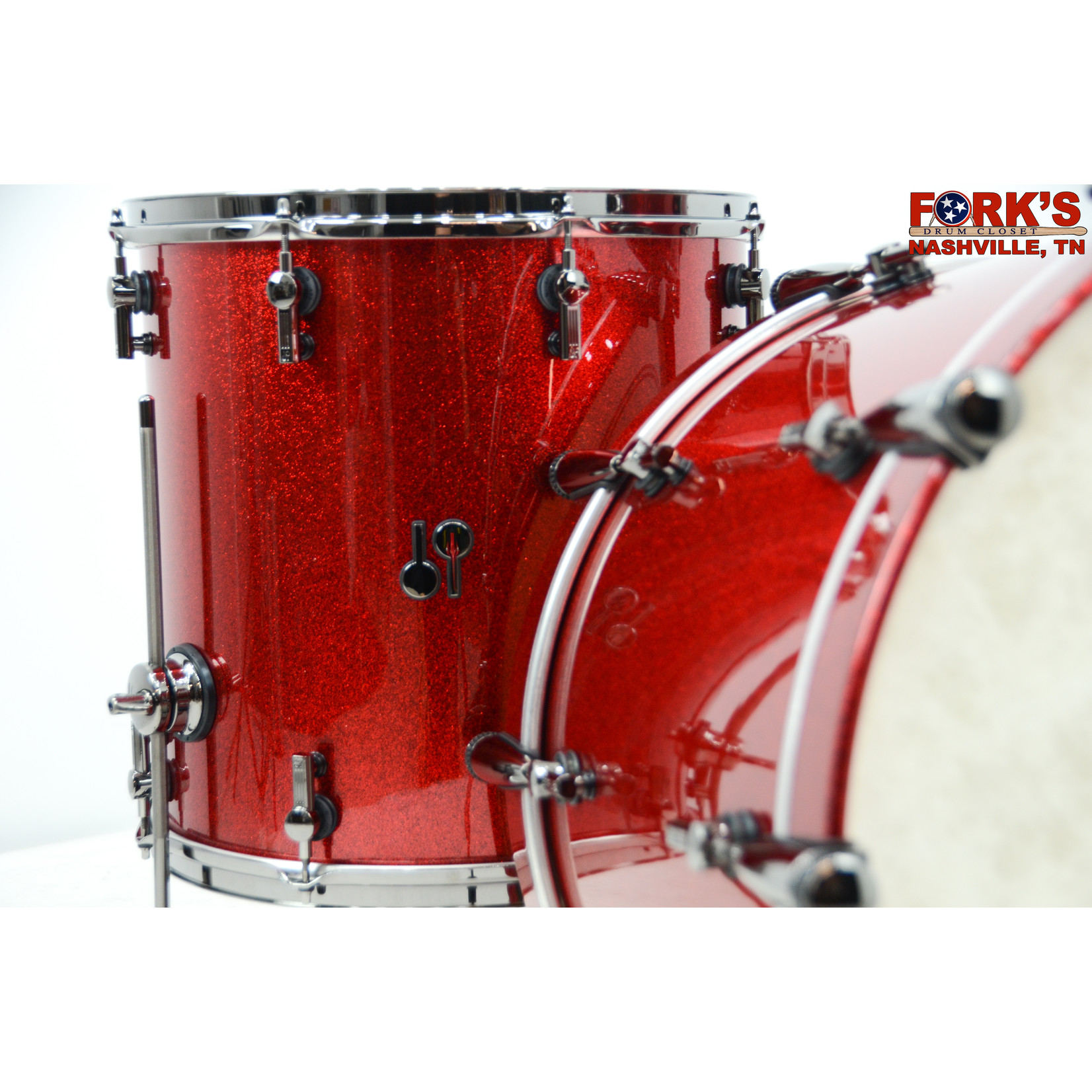 "Sonor Sonor SQ2 3pc Drum Kit ""Red Sparkle"""