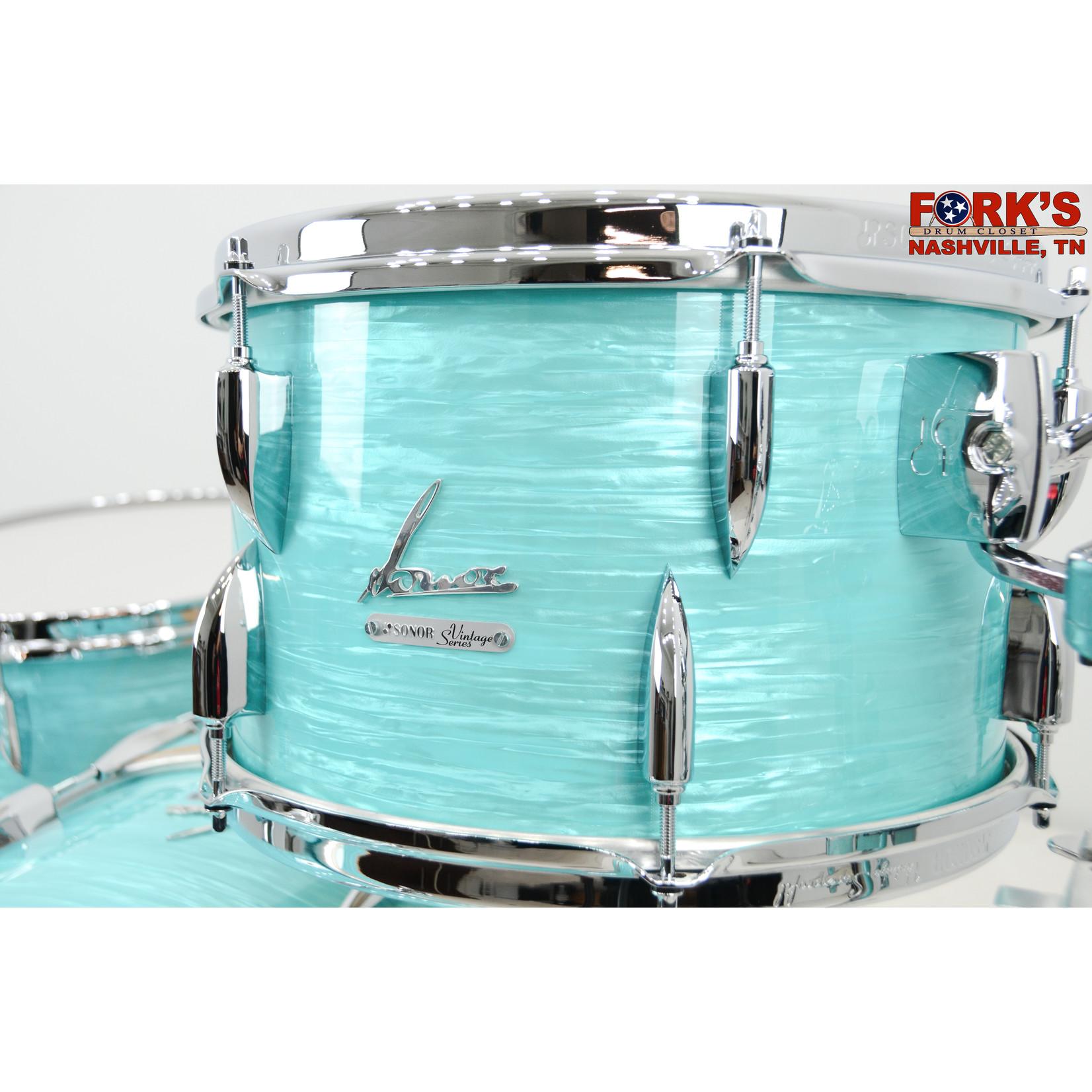 "Sonor Sonor Vintage Series 3pc Drum Kit ""California Blue"""
