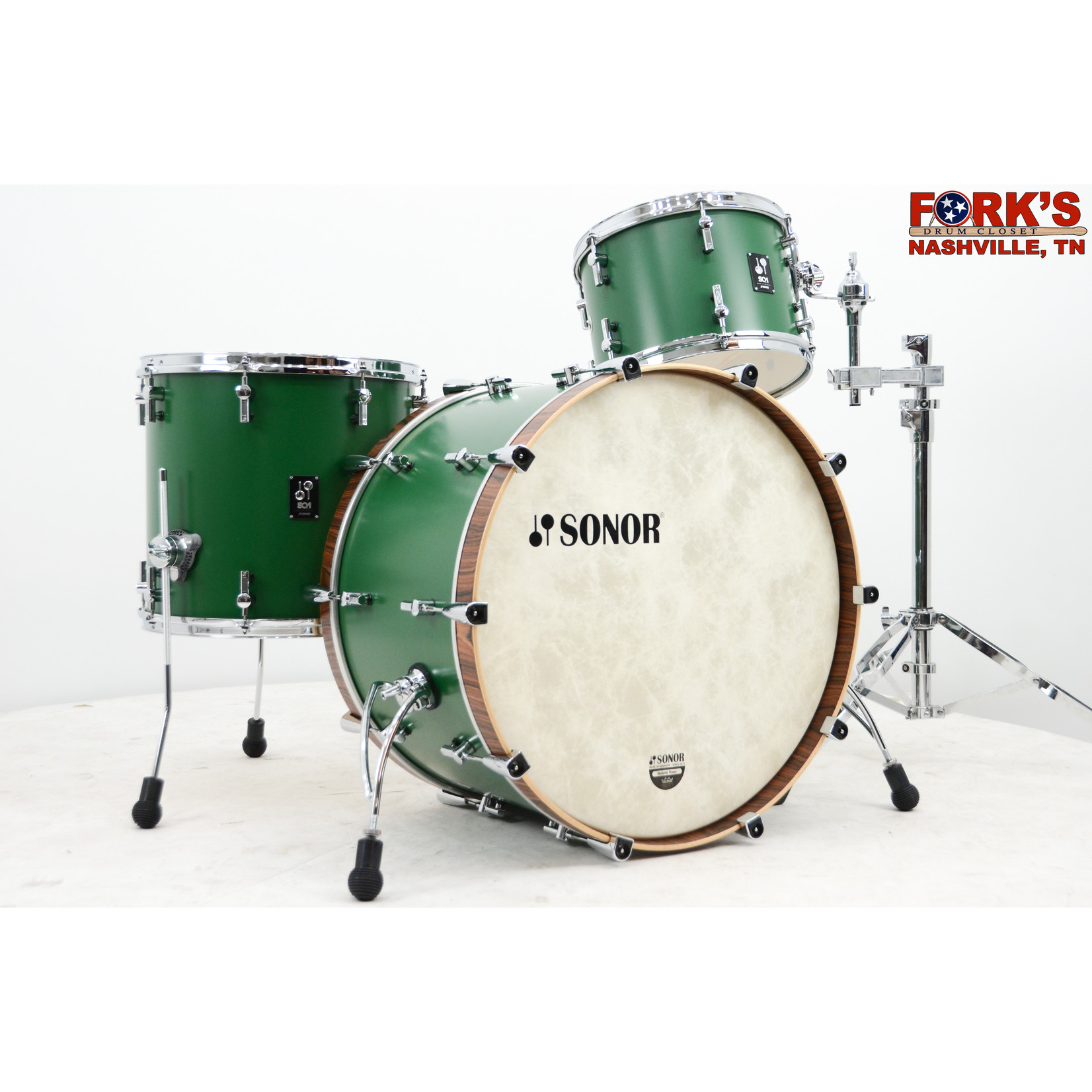 "Sonor Sonor SQ1 3pc Drum Kit ""Roadster Green"""