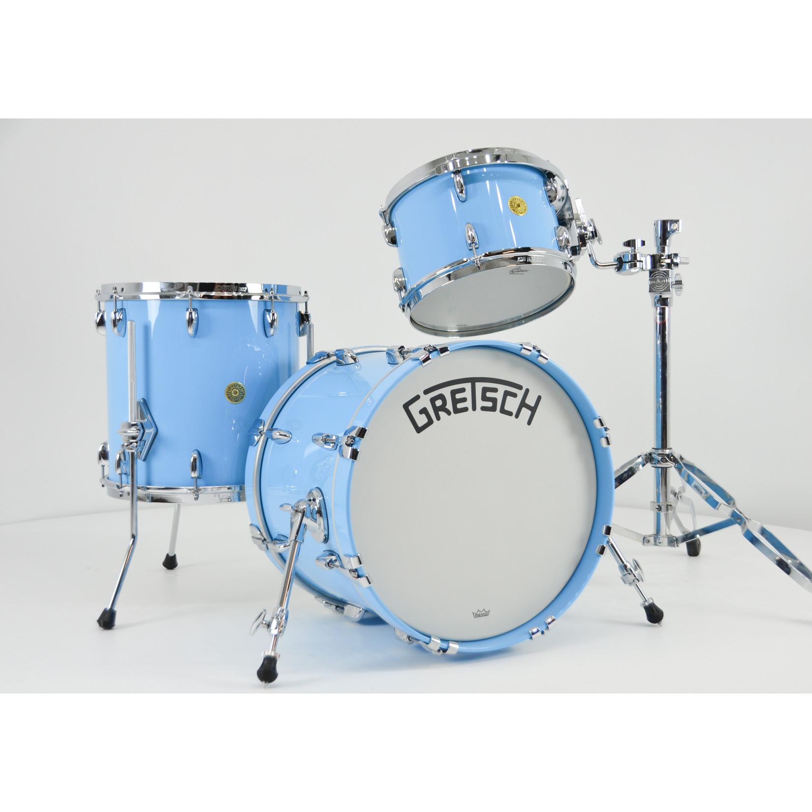 "Gretsch Gretsch Broadkaster 3pc Drum Kit ""Powder Blue Gloss Lacquer"""