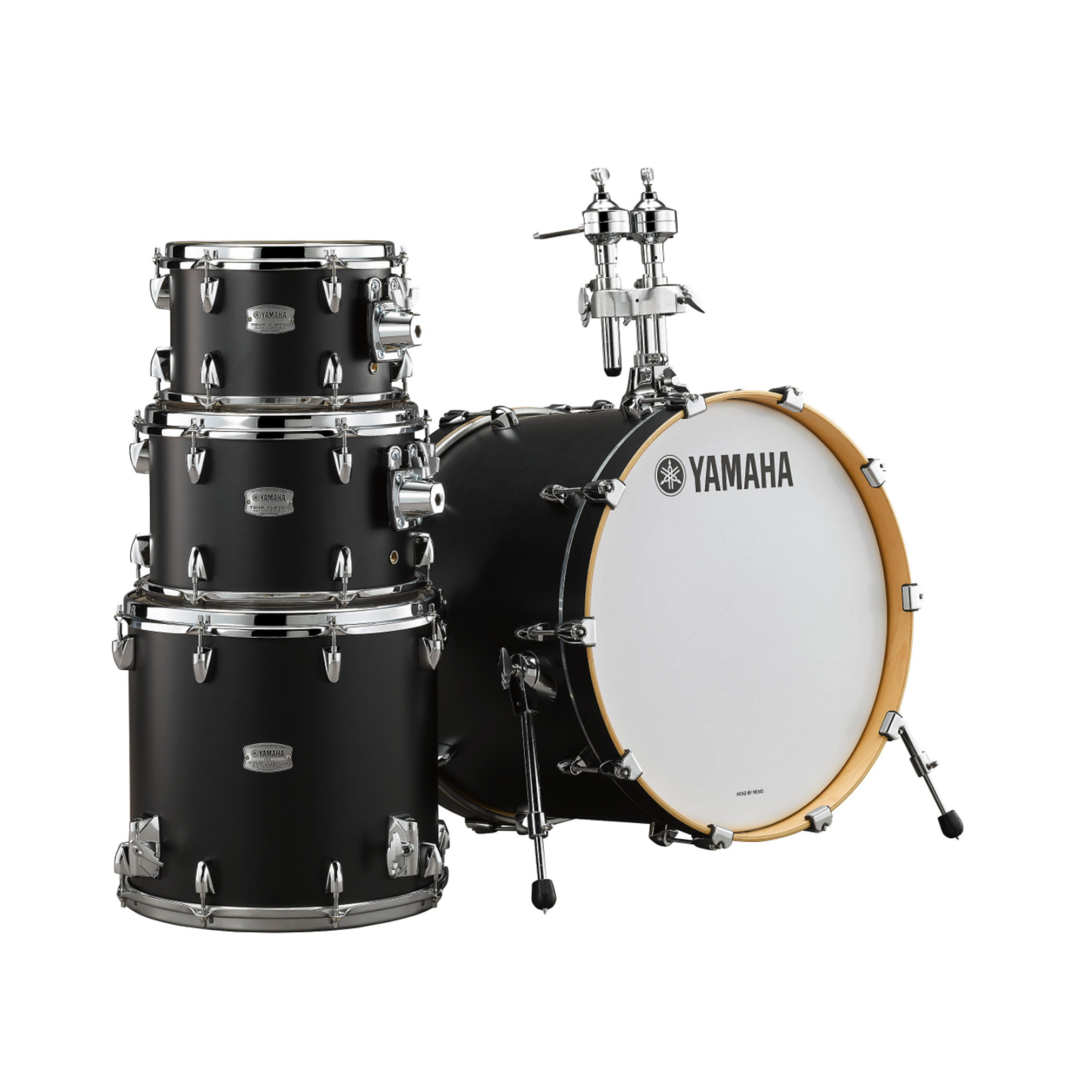 "Yamaha Yamaha Tour Custom 4pc Drum Kit ""Matte Black"""
