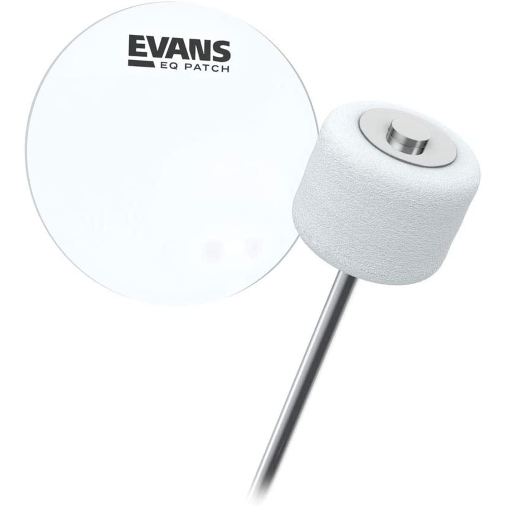 Evans Evans Clear Poly Bass Drum Patch Single Pedal (X2)