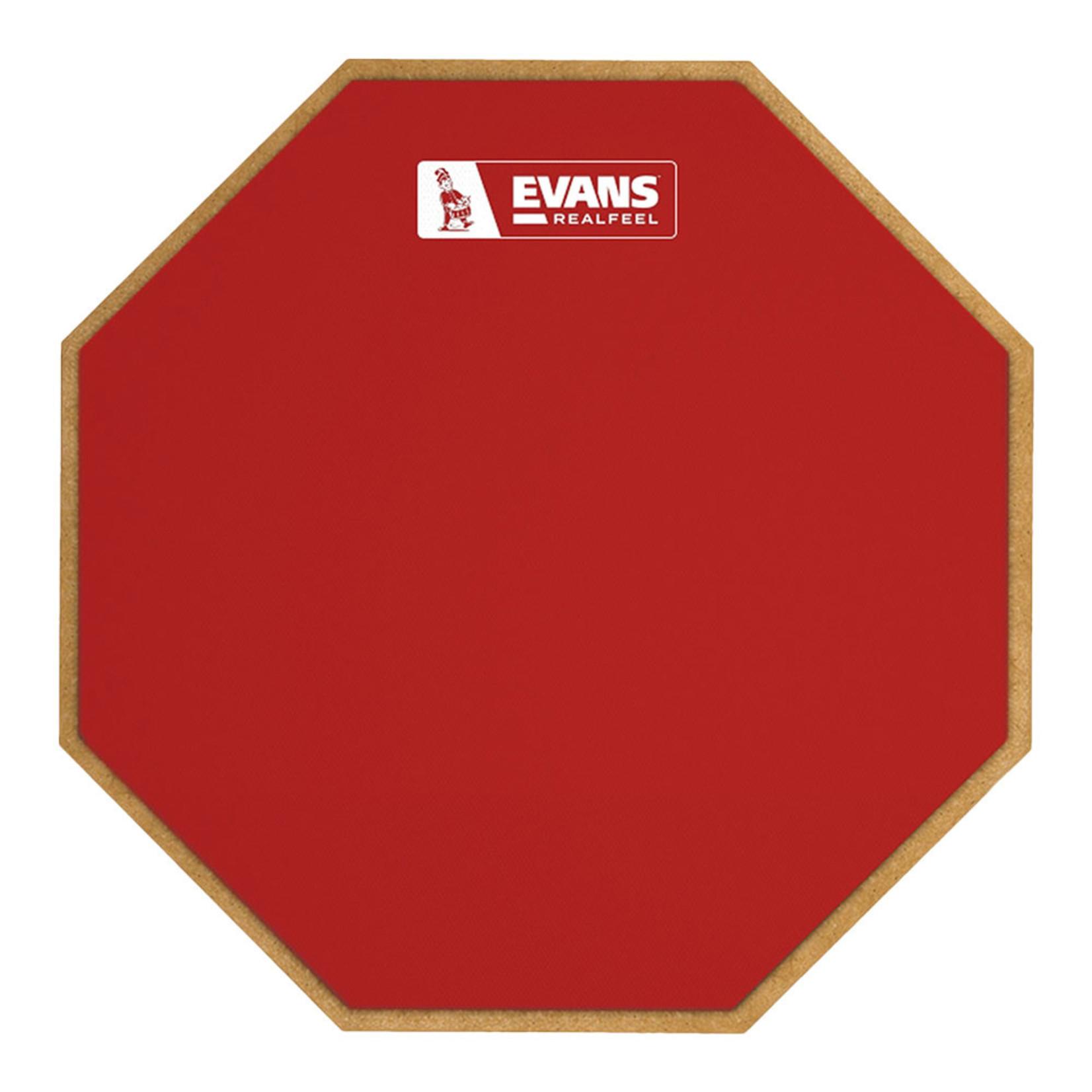 """Evans RealFeel 12"""" 1-Sided Standard Pad Red"""