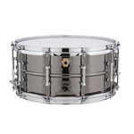 """Ludwig Ludwig 6.5x14 Supraphonic """"Black Beauty"""" Snare Drum / Tube Lugs / Hammered Shell"""