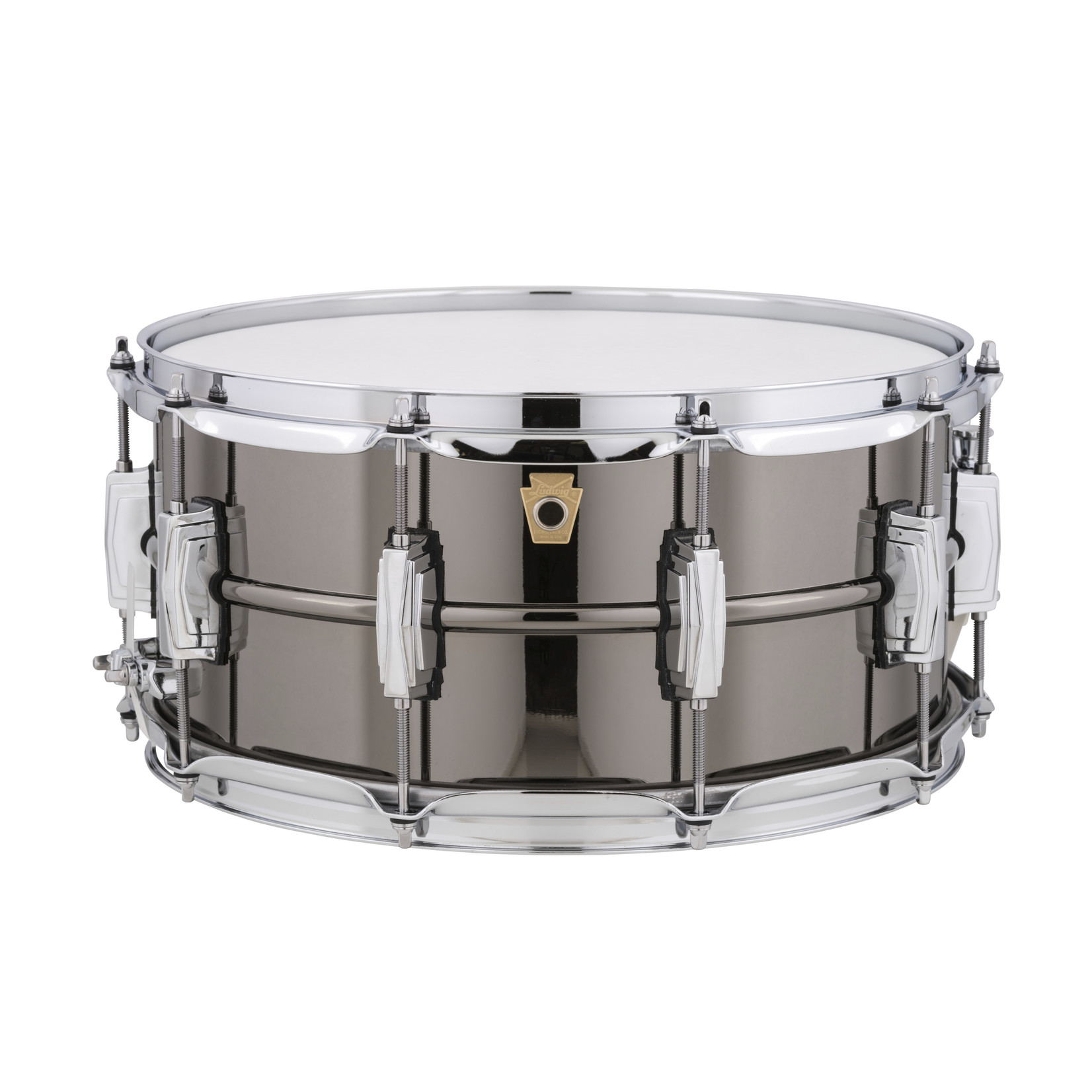 """Ludwig Ludwig 6.5x14 Supraphonic """"Black Beauty"""" Snare Drum / Imperial Lugs / Smooth Shell"""