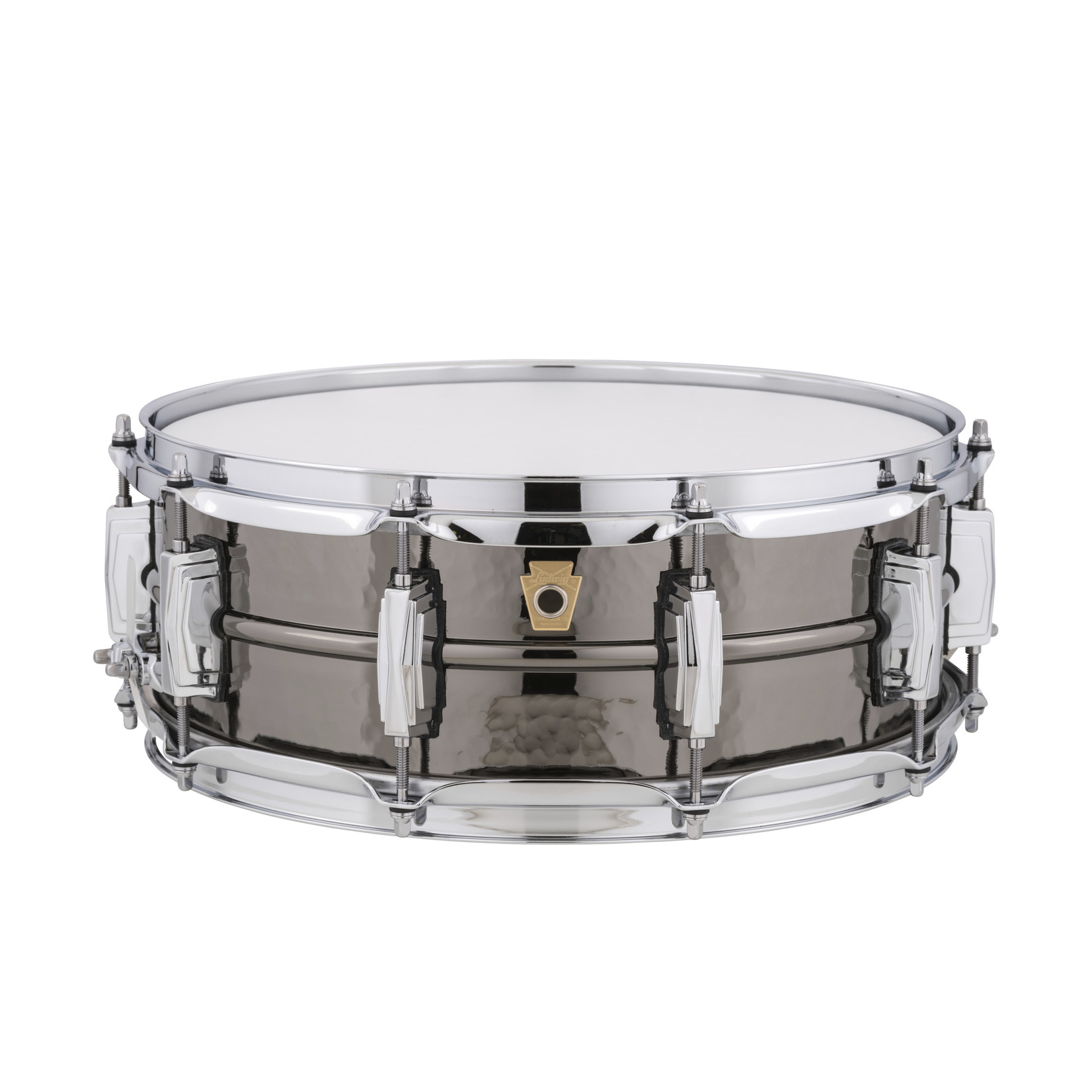 """Ludwig Ludwig 5X14 Supraphonic """"Black Beauty"""" Snare Drum / Imperial Lugs / Hammered Shell"""
