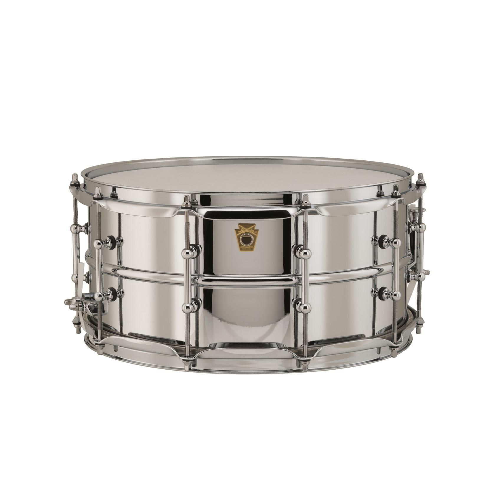 Ludwig Ludwig 6.5X14 Supraphonic Chrome over Brass Snare Drum / Tube Lugs / Chrome Hardware