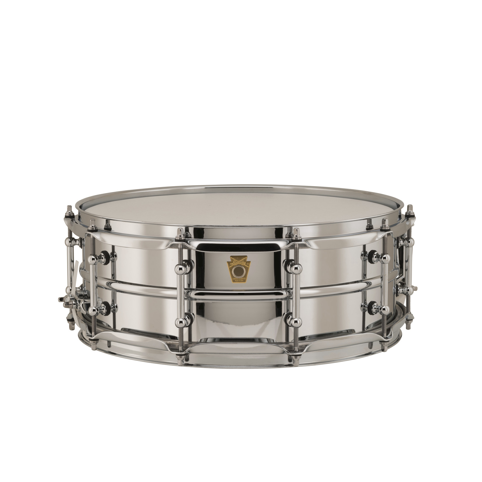 Ludwig Ludwig 5X14 Supraphonic Chrome over Brass Snare Drum / Tube Lugs / Chrome Hardware