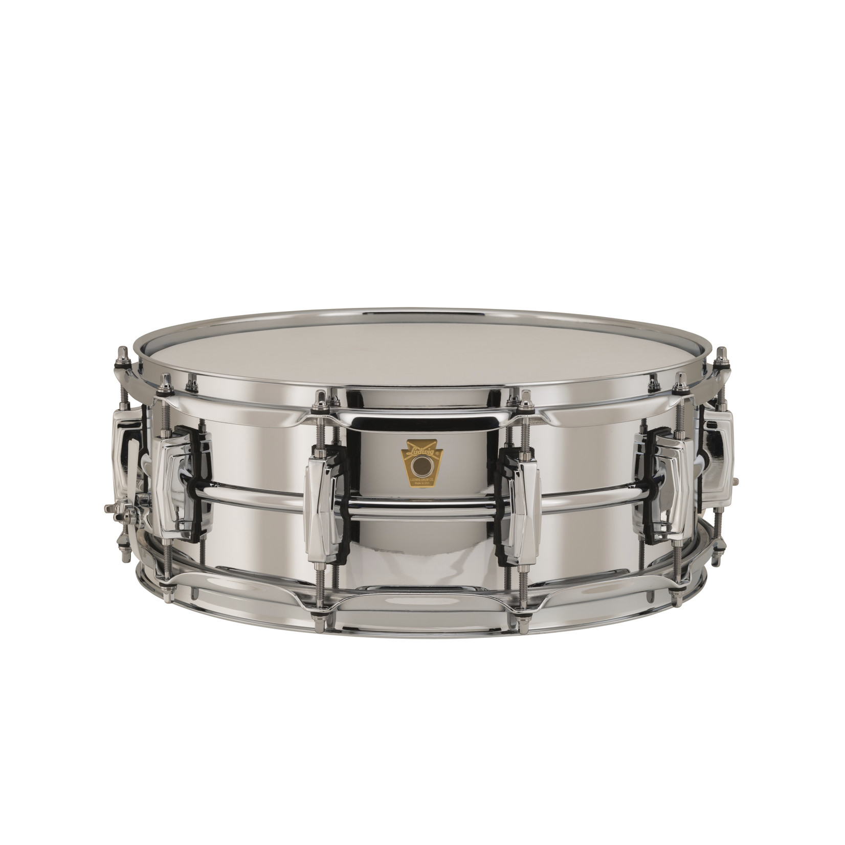 Ludwig Ludwig 5X14 Supraphonic Chrome over Brass Snare Drum / Imperial Lugs / Chrome Hardware