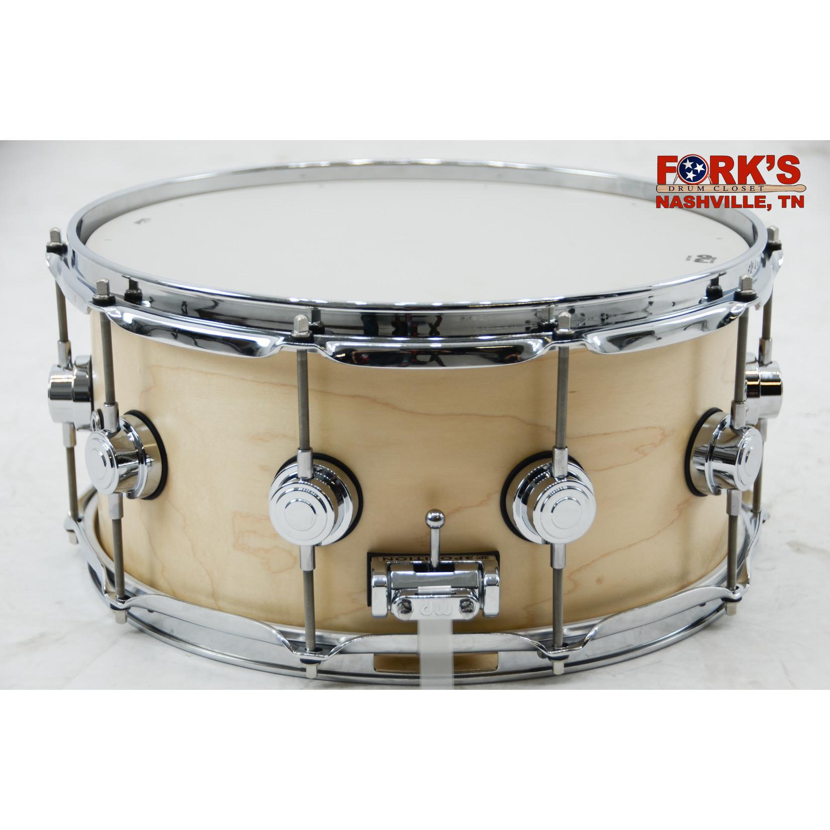 "DW DW Collectors Maple 6.5x14 Snare Drum ""Satin Natural"""