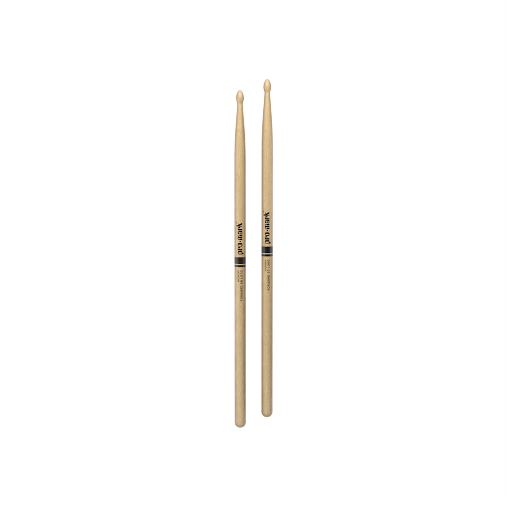 Promark ProMark Classic Forward 5A Long Hickory Oval Wood Tip Drumstick