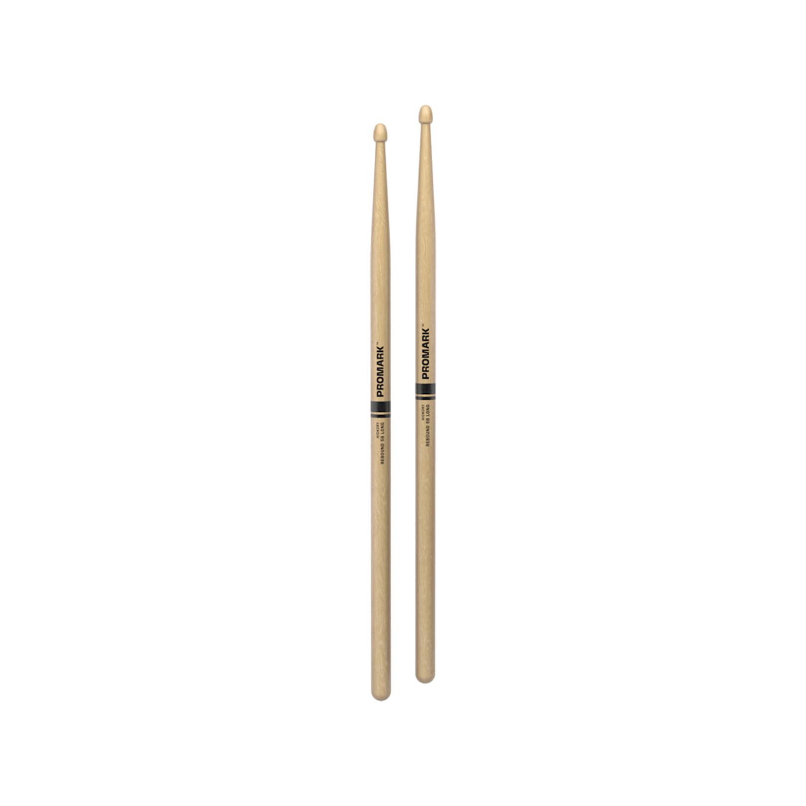 Promark ProMark Rebound 5B Long Hickory Acorn Wood Tip Drumstick