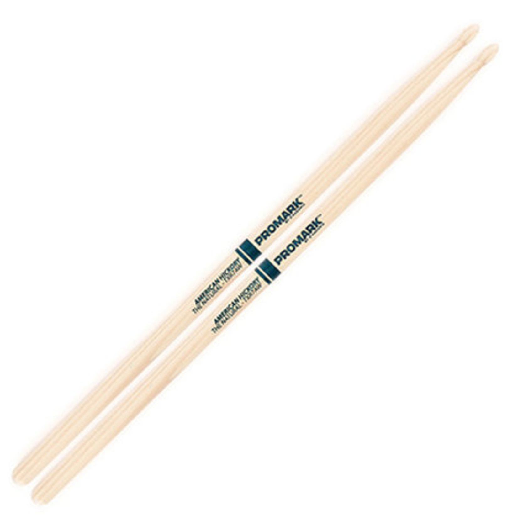 Promark ProMark Classic Forward 7A Raw Hickory, Oval Wood Tip Drumstick