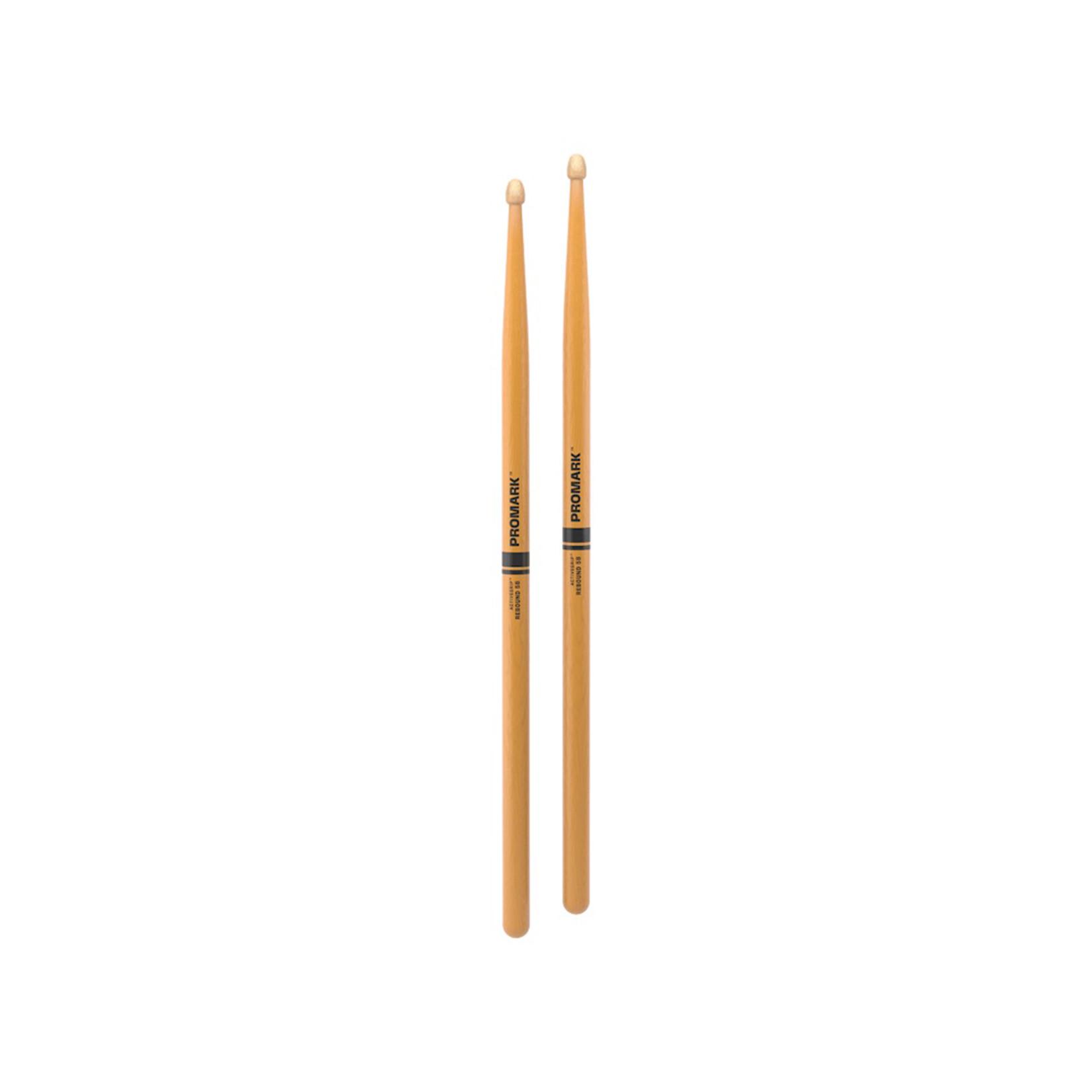 Promark ProMark Rebound 5B ActiveGrip Clear Acorn Tip Drumstick