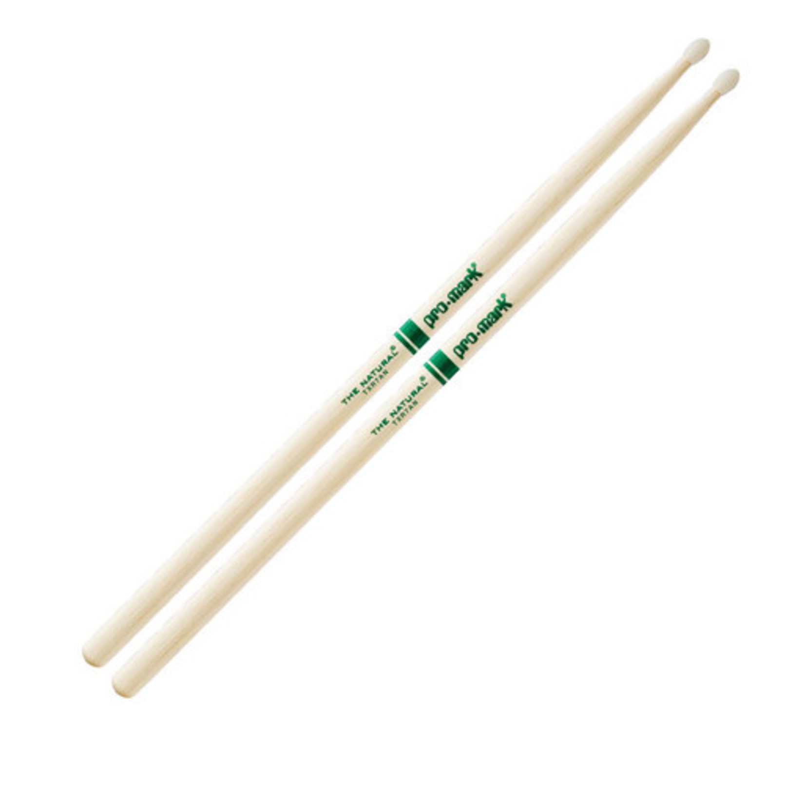 Promark ProMark Classic Forward 7A Raw Hickory, Oval Nylon Tip Drumstick