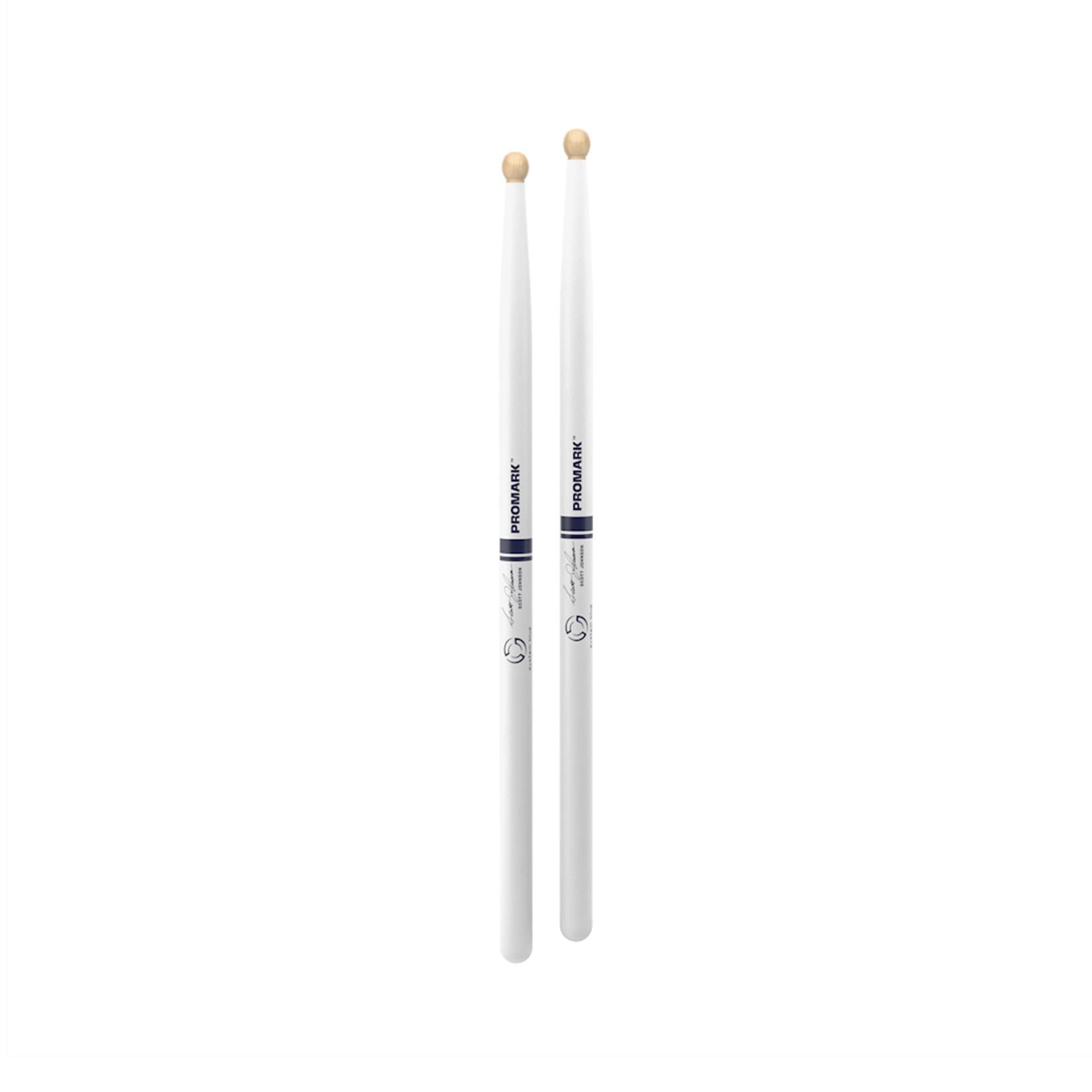 Promark ProMark Scott Johnson DC17 Hickory White Wood Tip Drumsticks