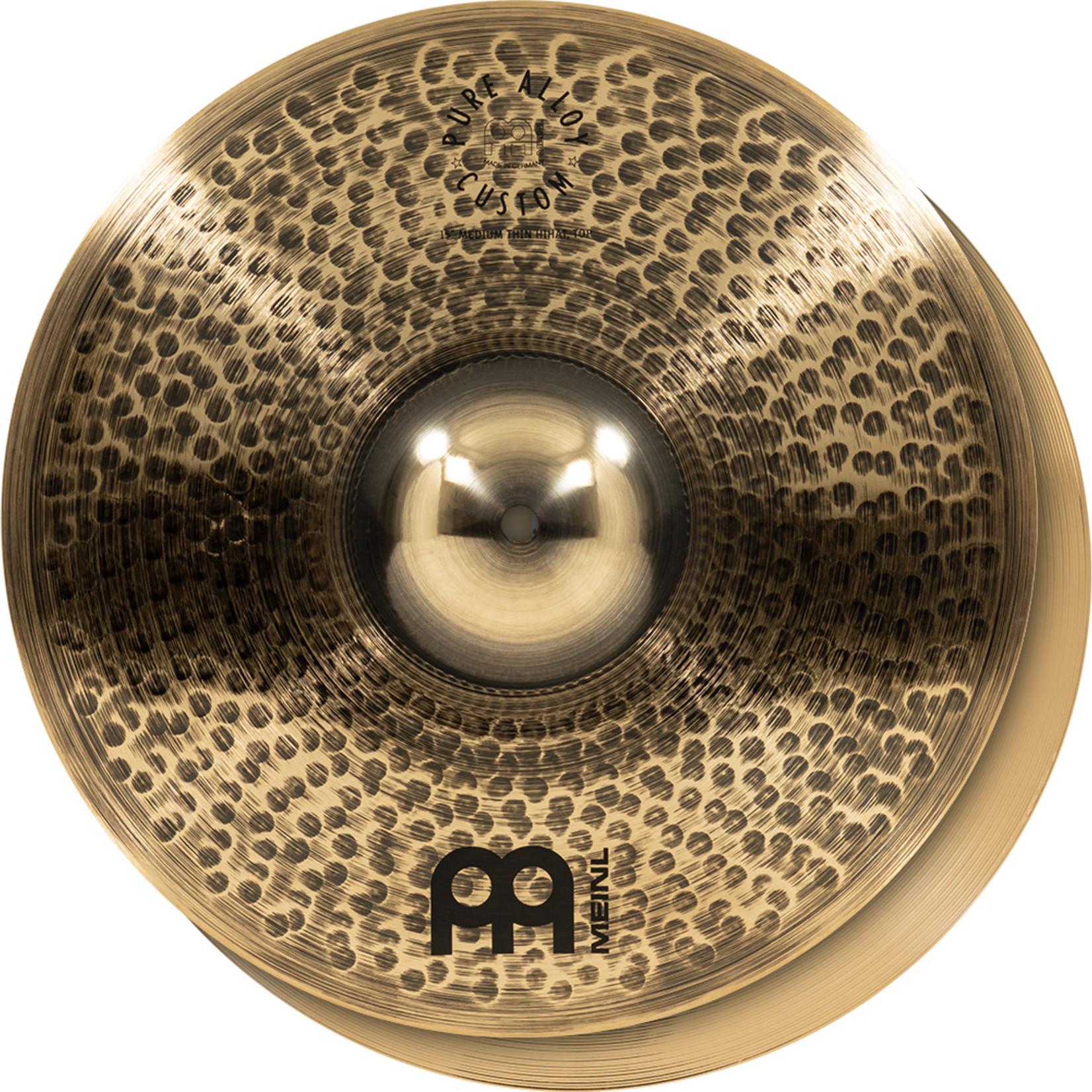 Meinl Meinl 15'' Pure Alloy Custom Medium Thin Hihat, pair