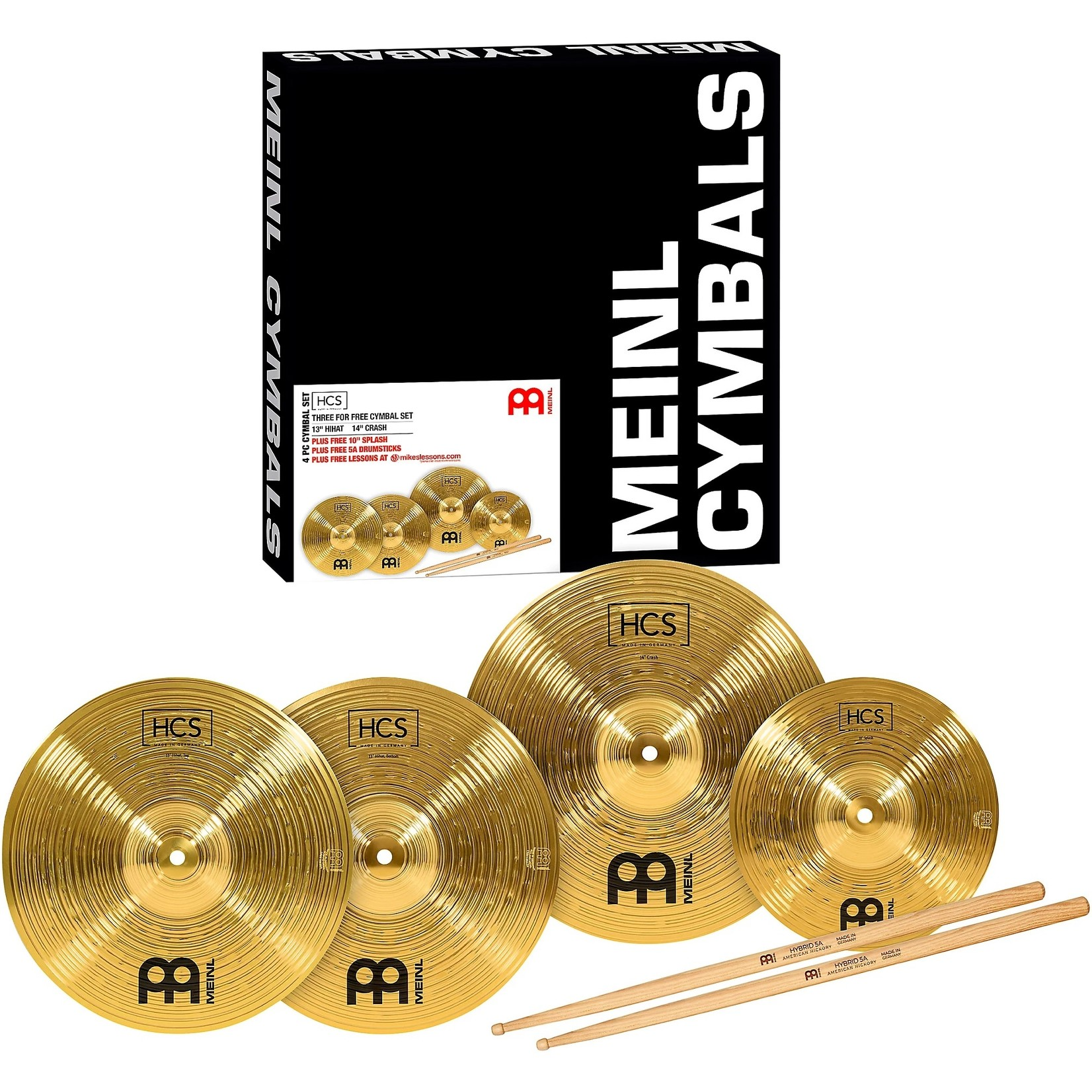 Meinl Meinl HCS Three for Free Cymbal Pack
