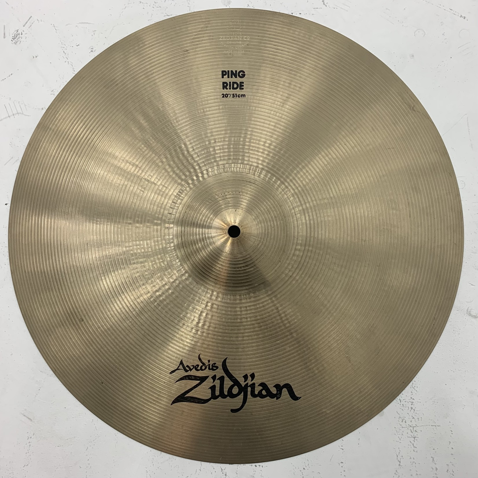 "USED Zildjian A 20"" Ping Ride Cymbal (Michael Wagener Collection)"