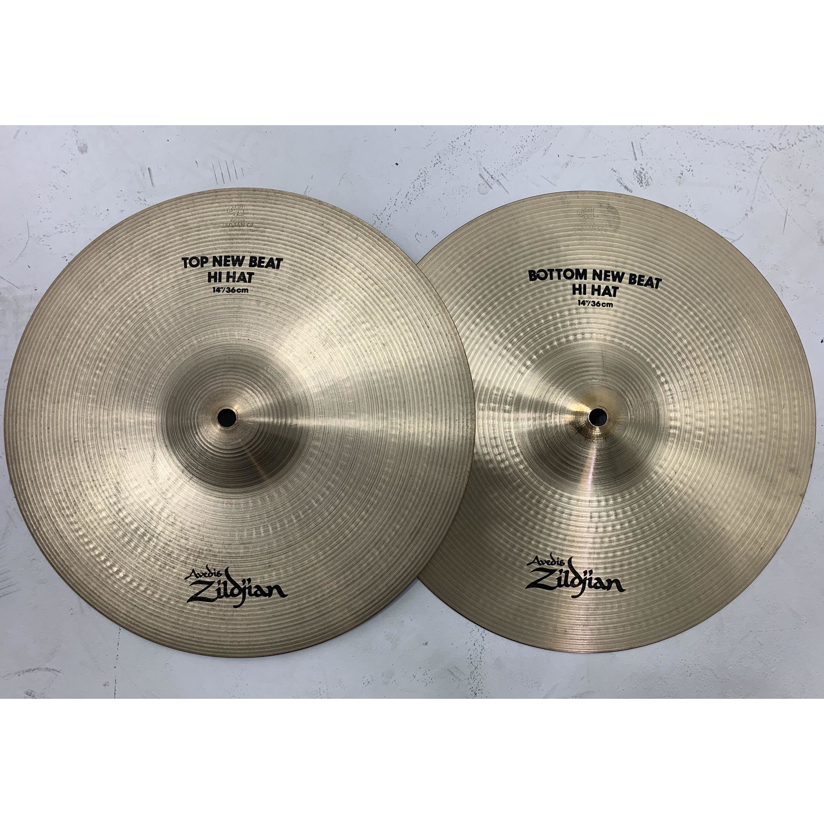 """USED Zildjian A 14"""" New Beat Hi-Hat Cymbals (Michael Wagener Collection)"""