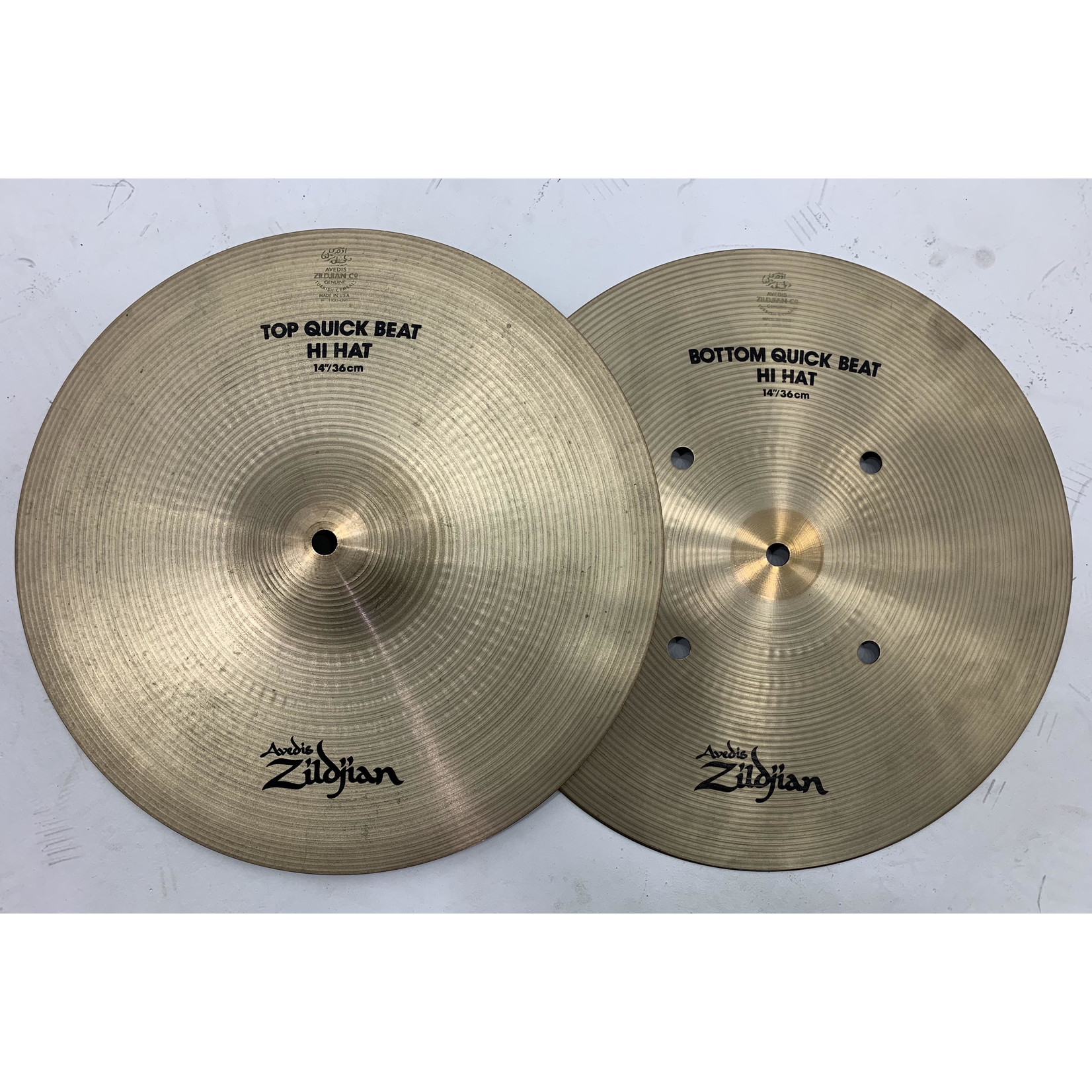 """USED Zildjian A 14"""" Quick Beat Hi-Hat Cymbals (Michael Wagener Collection)"""
