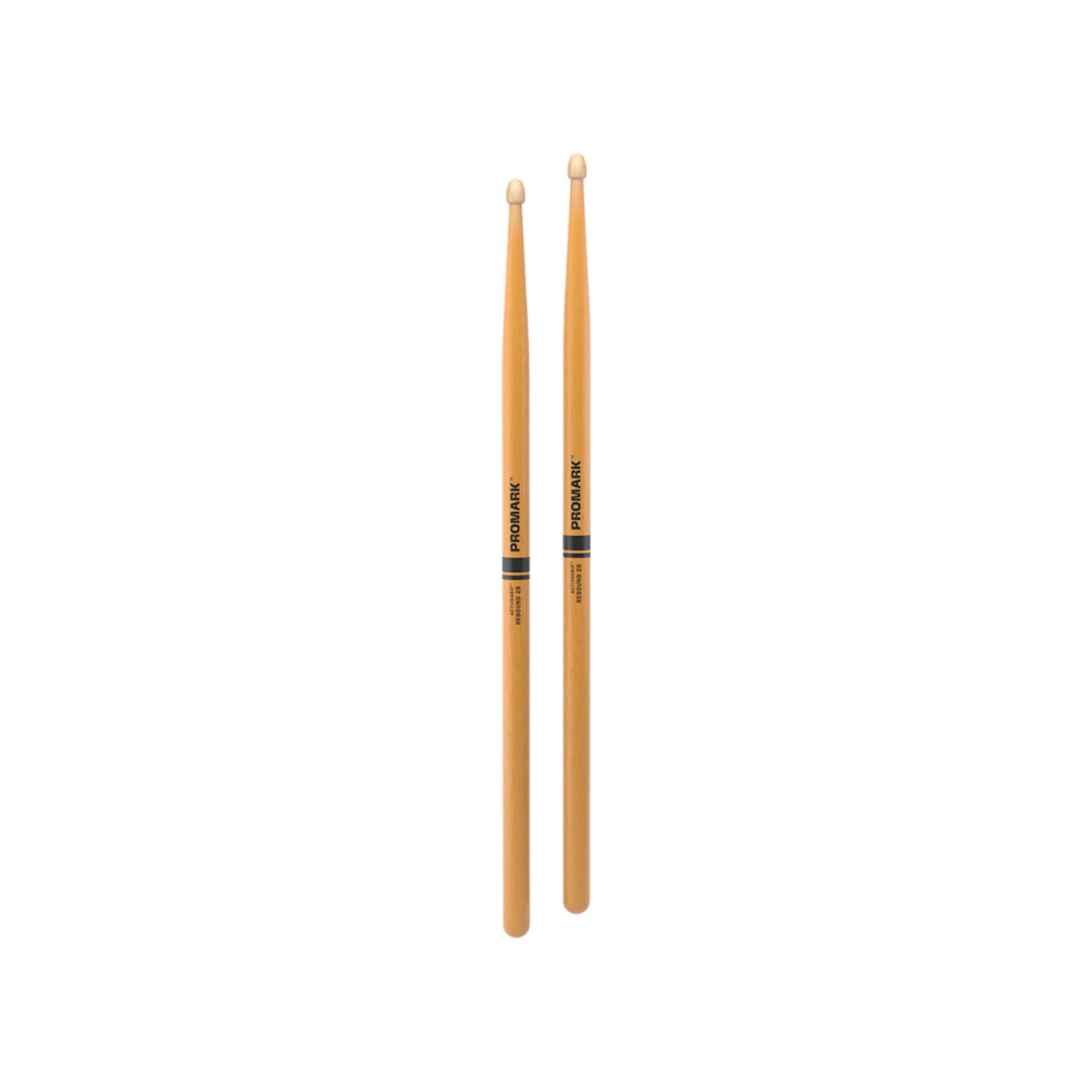 Promark ProMark Rebound 2B ActiveGrip Clear Acorn Tip Drumstick