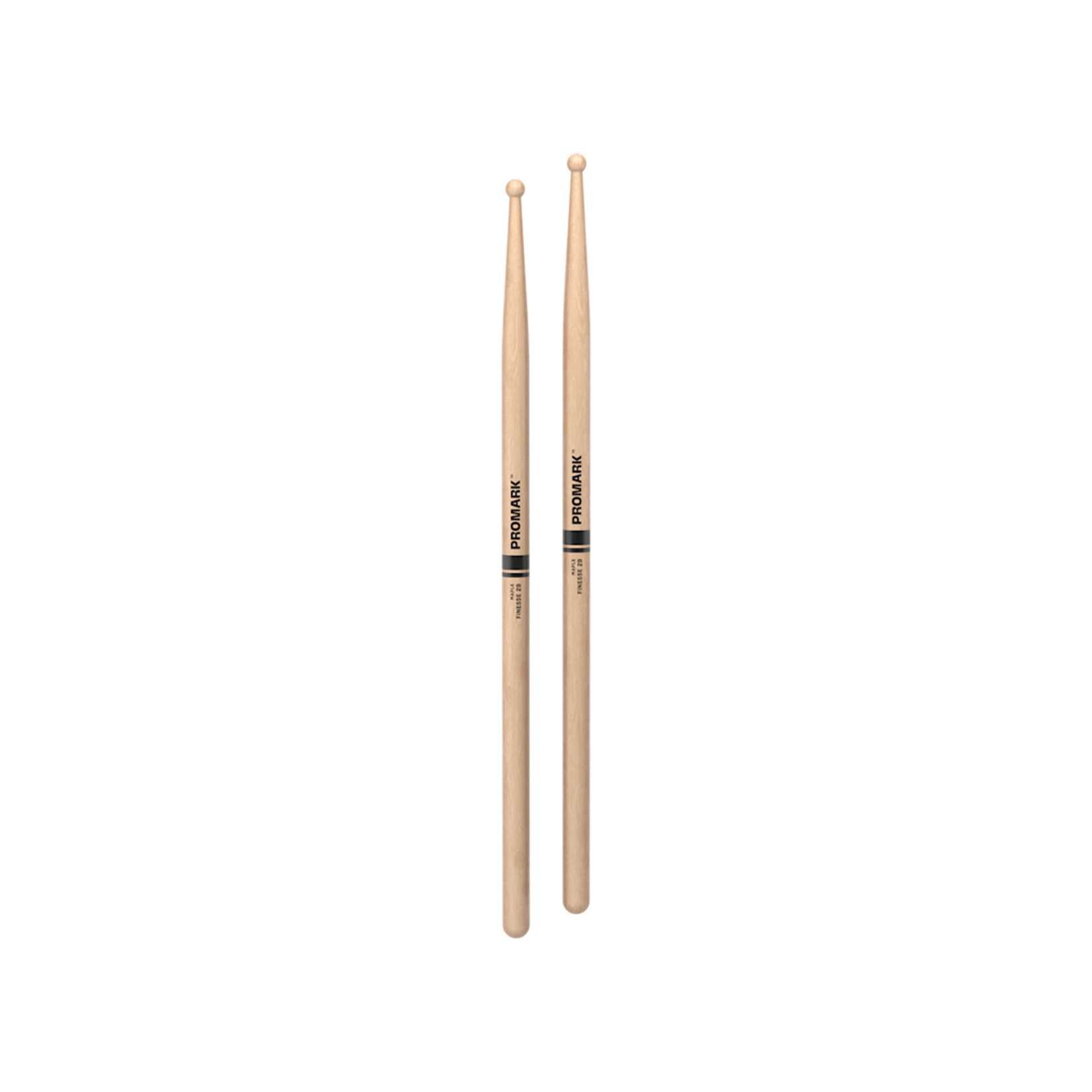 Promark ProMark Finesse 2B Maple Long Round Tip Drumstick