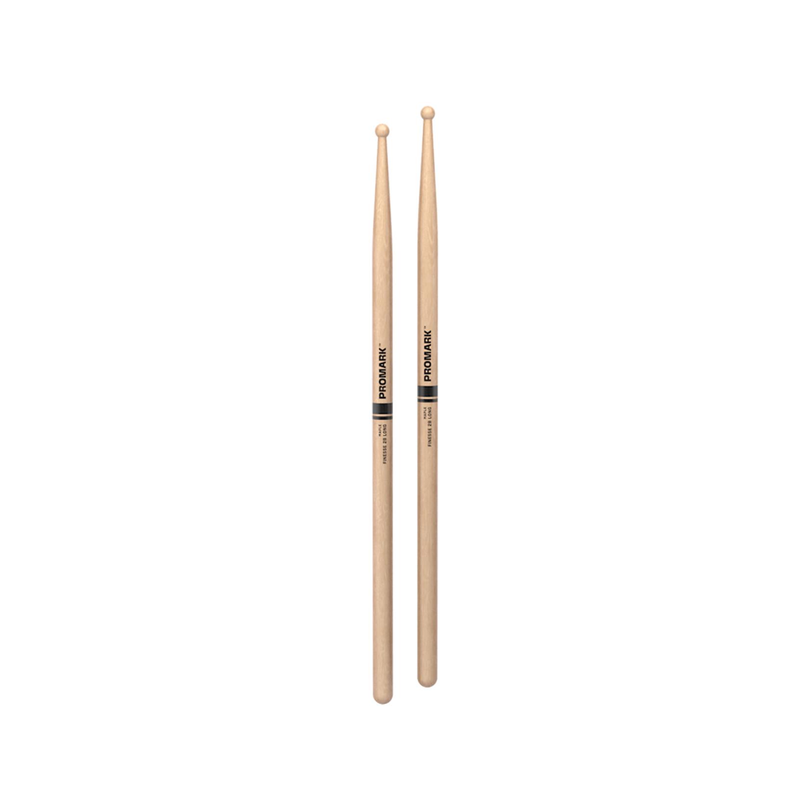 Promark ProMark Finesse 2B Maple Round Tip Drumstick