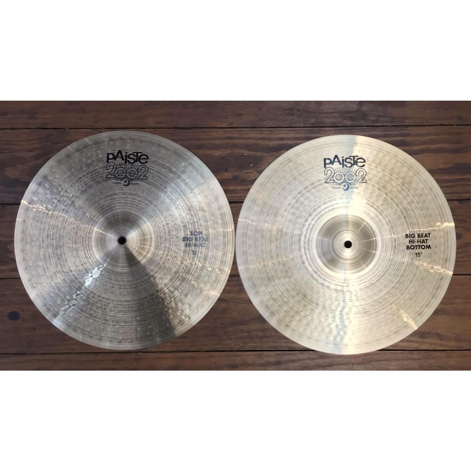 "Paiste USED Paiste Big Beat 15"" Hi-Hat Cymbals (Pair)"