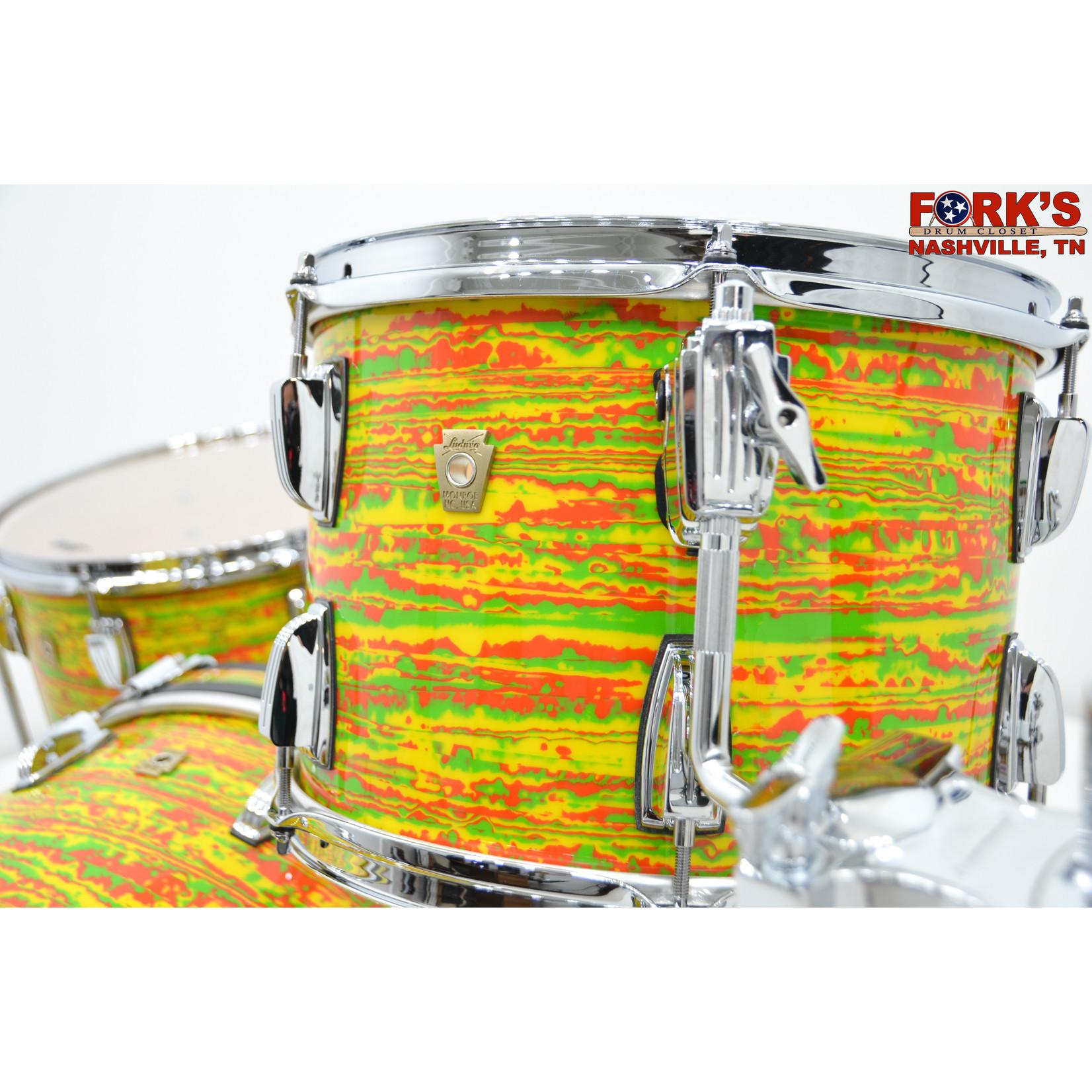 "Ludwig Ludwig Classic Maple 3pc Drum Kit - ""Citrus Mod"""