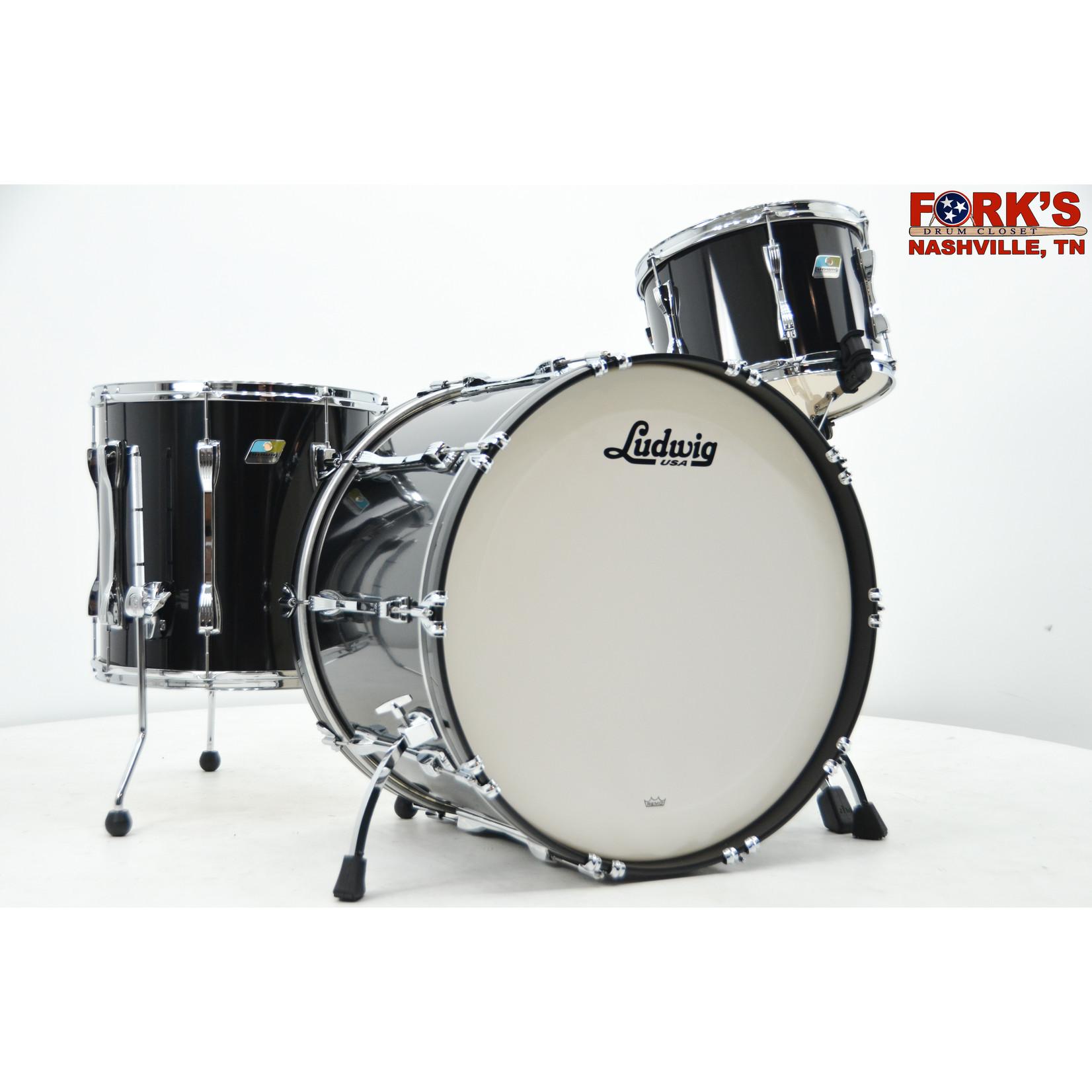 "Ludwig Ludwig Classic Maple 3pc Drum Kit - ""Black Cortex"""