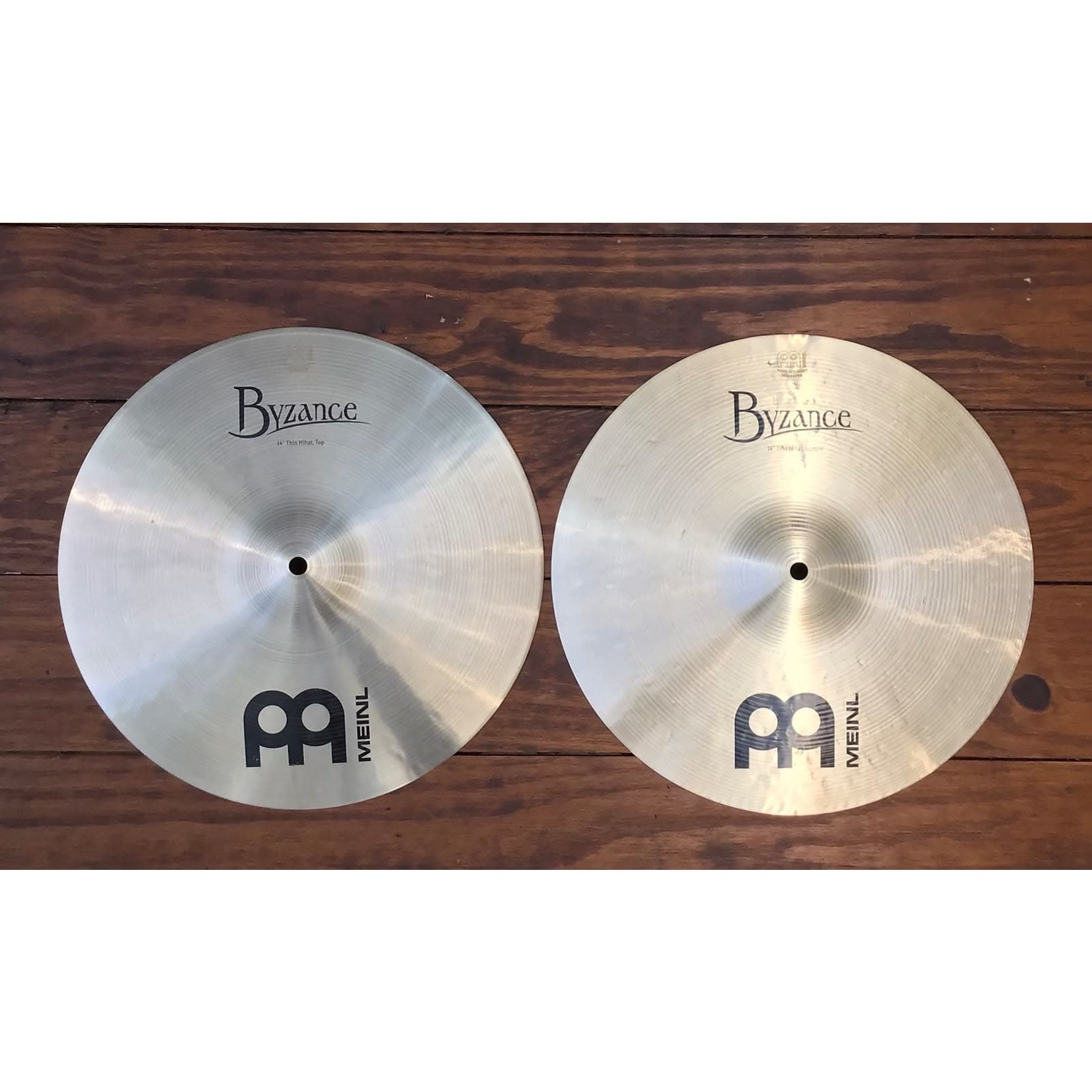 """Meinl USED Meinl Byzance Traditional 14"""" Thin Hi-Hat Cymbals (Pair)"""